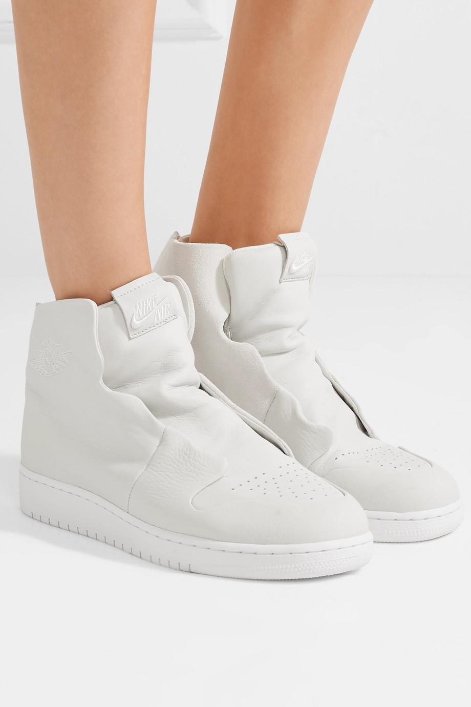 1f27cc0fc612 Lyst - Nike The 1 s Reimagined Air Jordan 1 Sage Suede And Leather ...