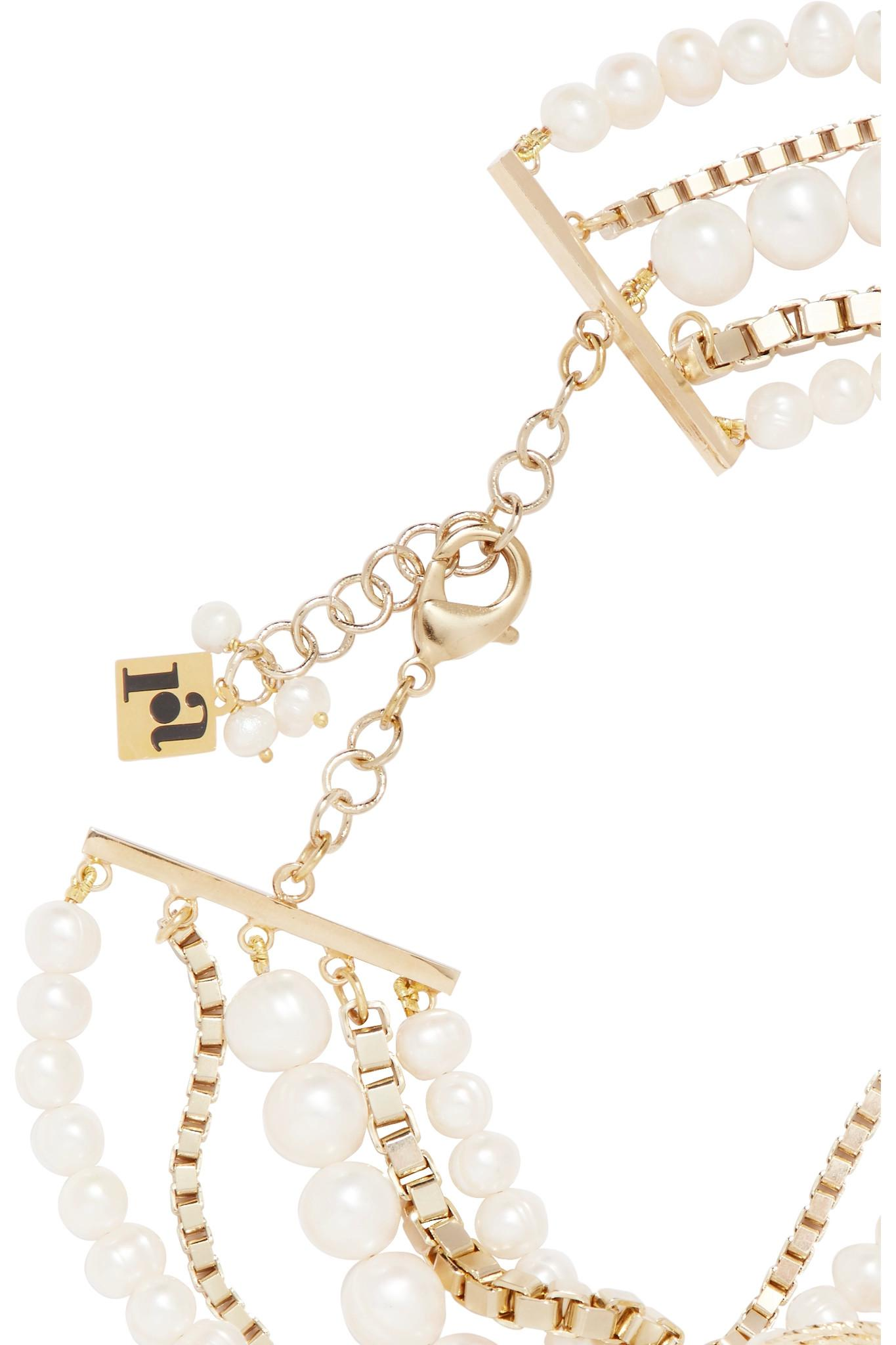 Armonia Layered Pearl Charm Necklace Rosantica Lwn4nAmCl