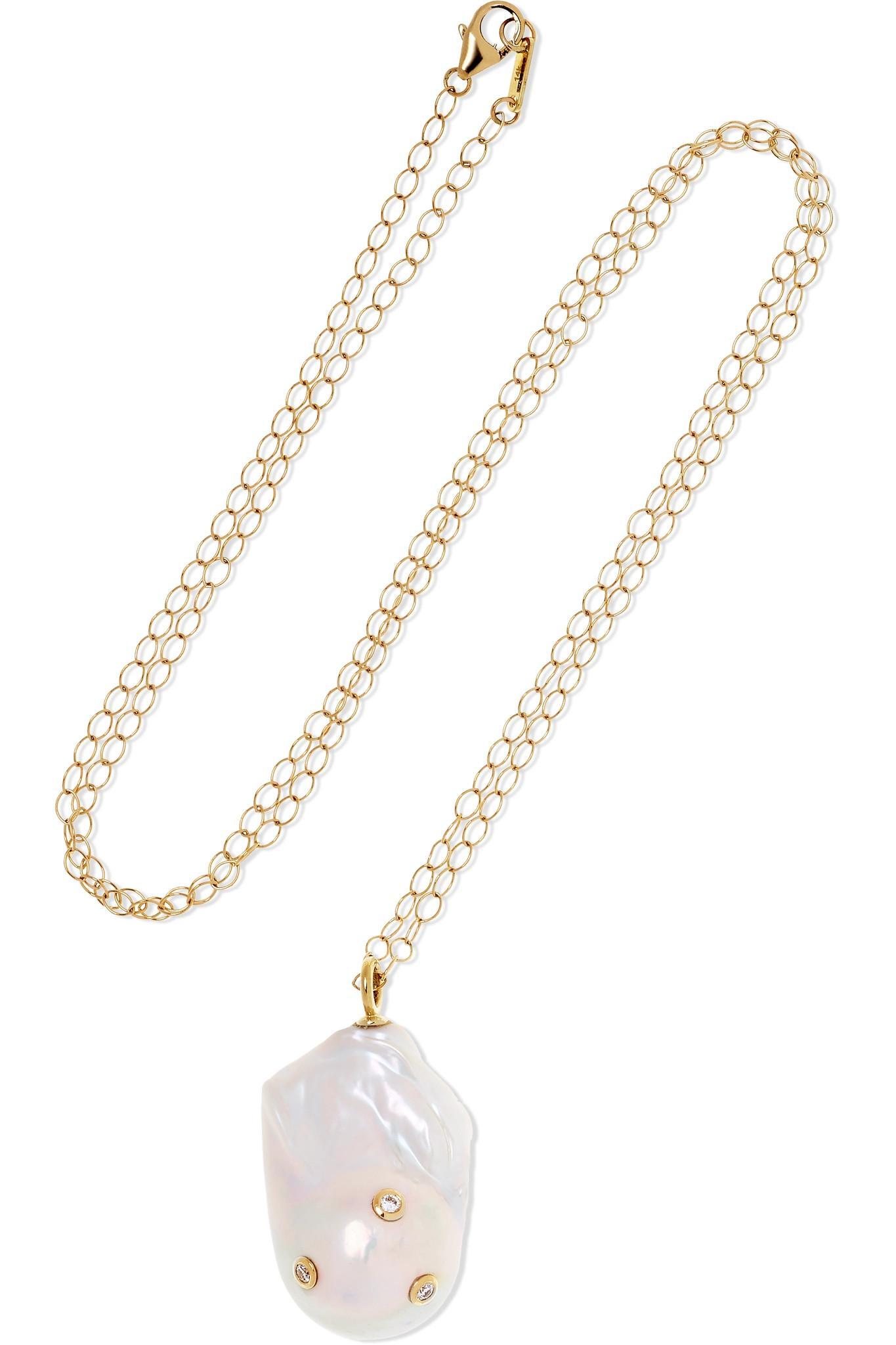 Mizuki 14-karat Gold Pearl Choker qLbfR