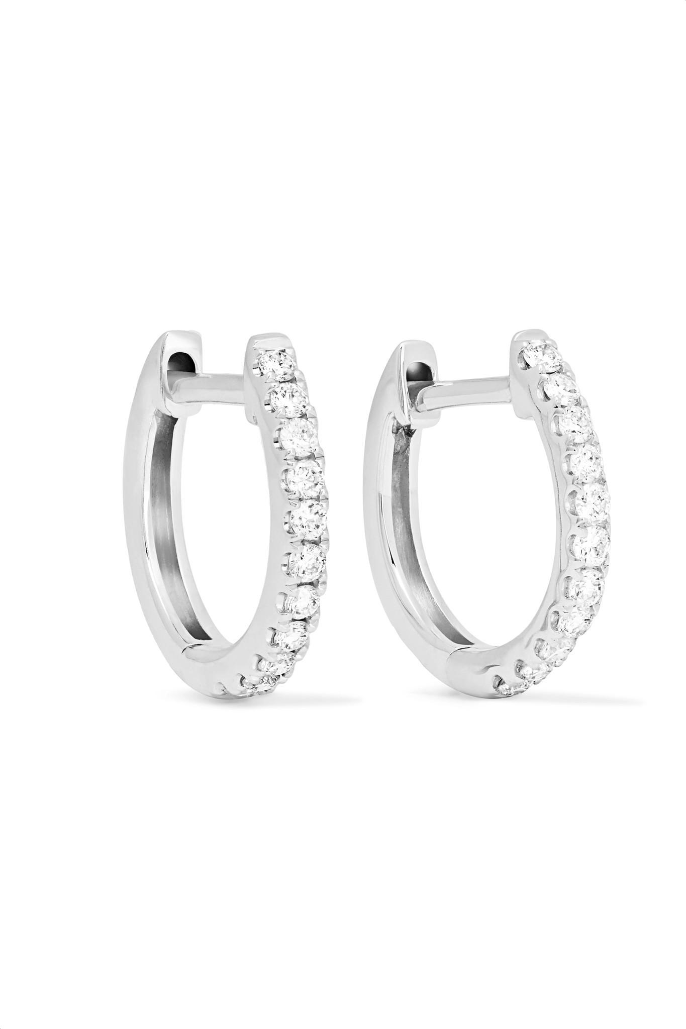 Anita Ko Huggies 18-karat Gold Diamond Earrings ZedWyUbzAO