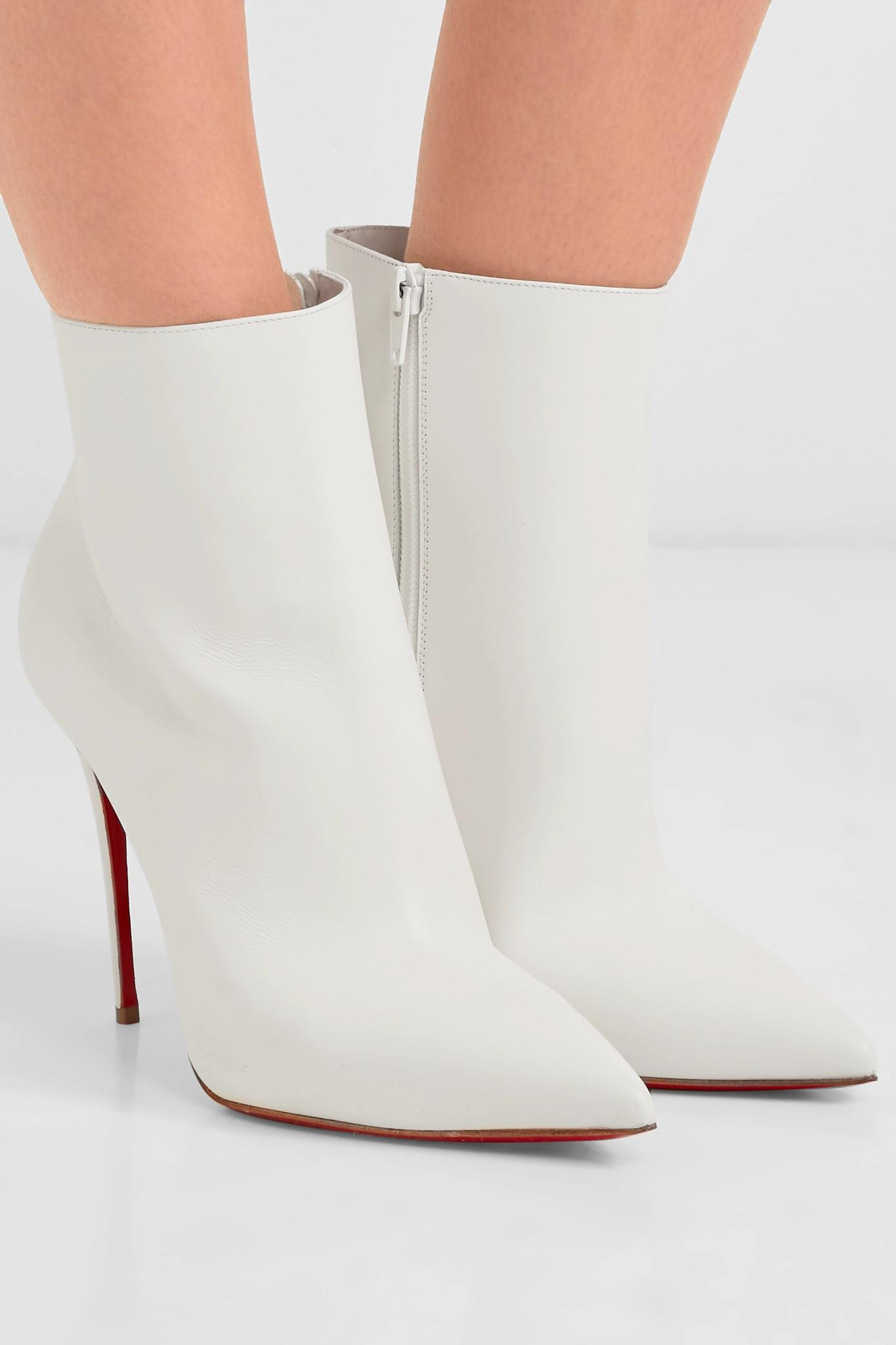 b19fa5caf01e Christian Louboutin - White So Kate 100 Leather Ankle Boots - Lyst. View  fullscreen