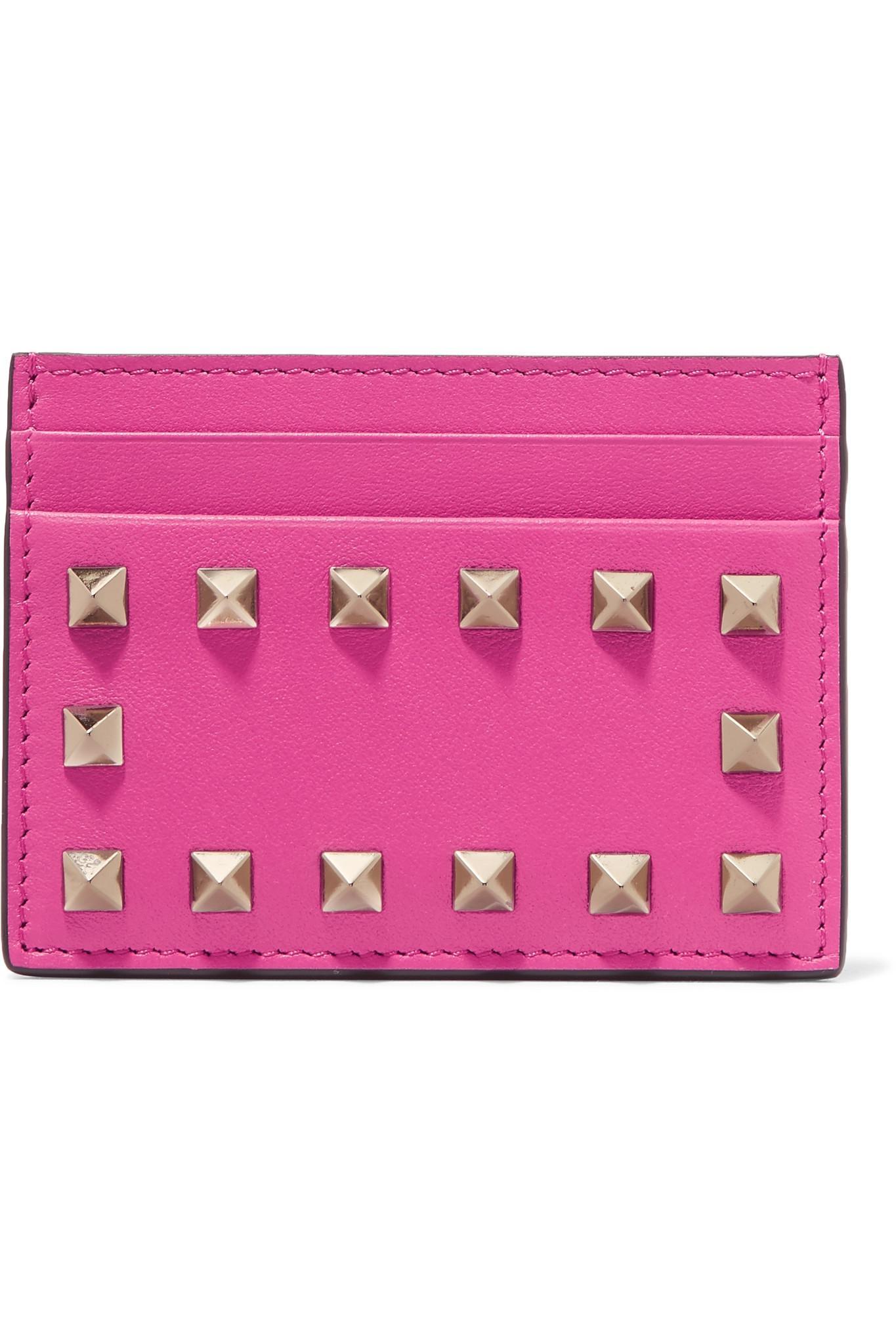 Rockstud cardholder - Pink & Purple Valentino LBSo4NTD