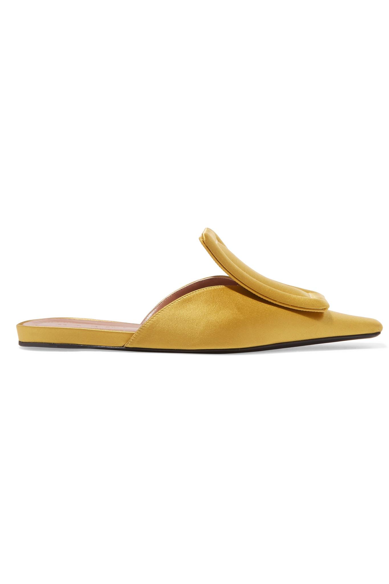 Satin Slippers - Mustard Marni