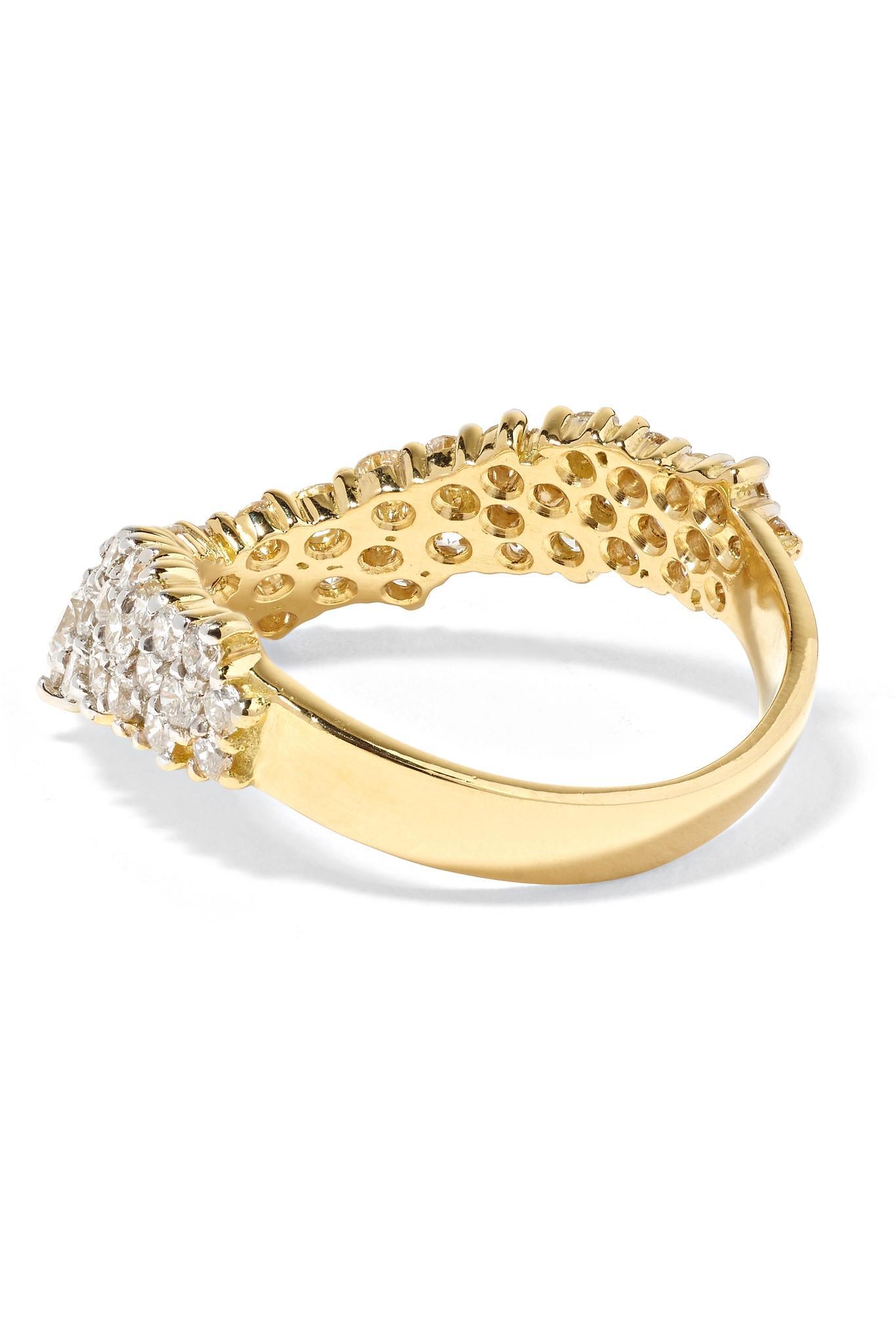 Simplicity 18-karat Gold Diamond Ring - 6 Ana Khouri FmLIy8