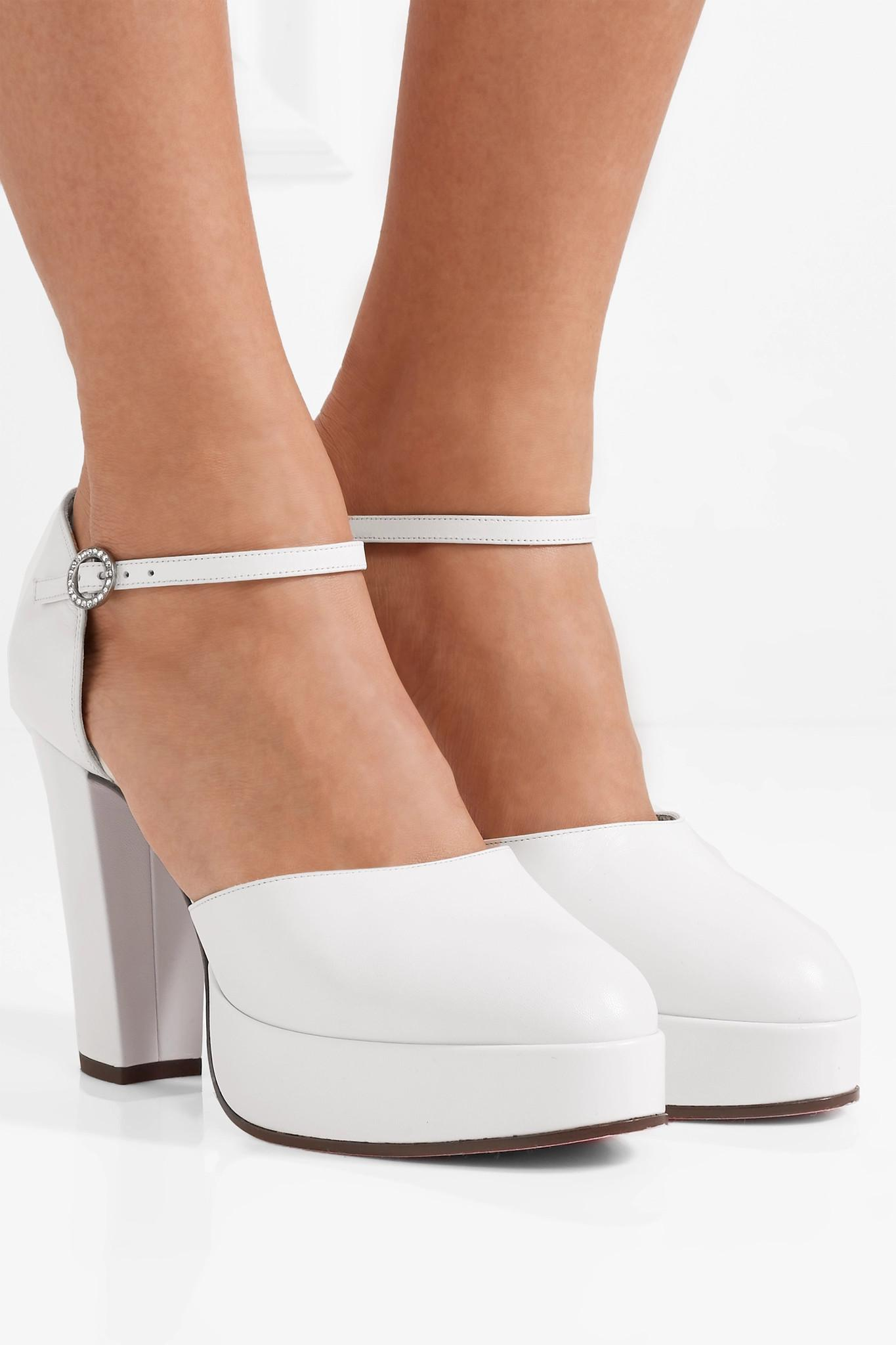 8a068b29b94 Gucci - White Embellished Platform Pumps - Lyst. View fullscreen