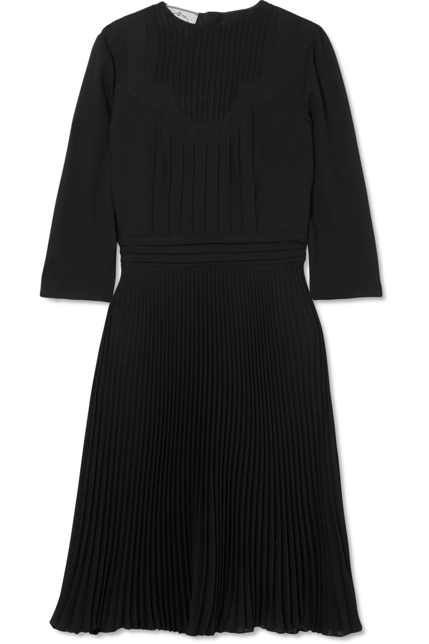 Paneled Georgette Dress - Black Prada 7iZNFs9Ps