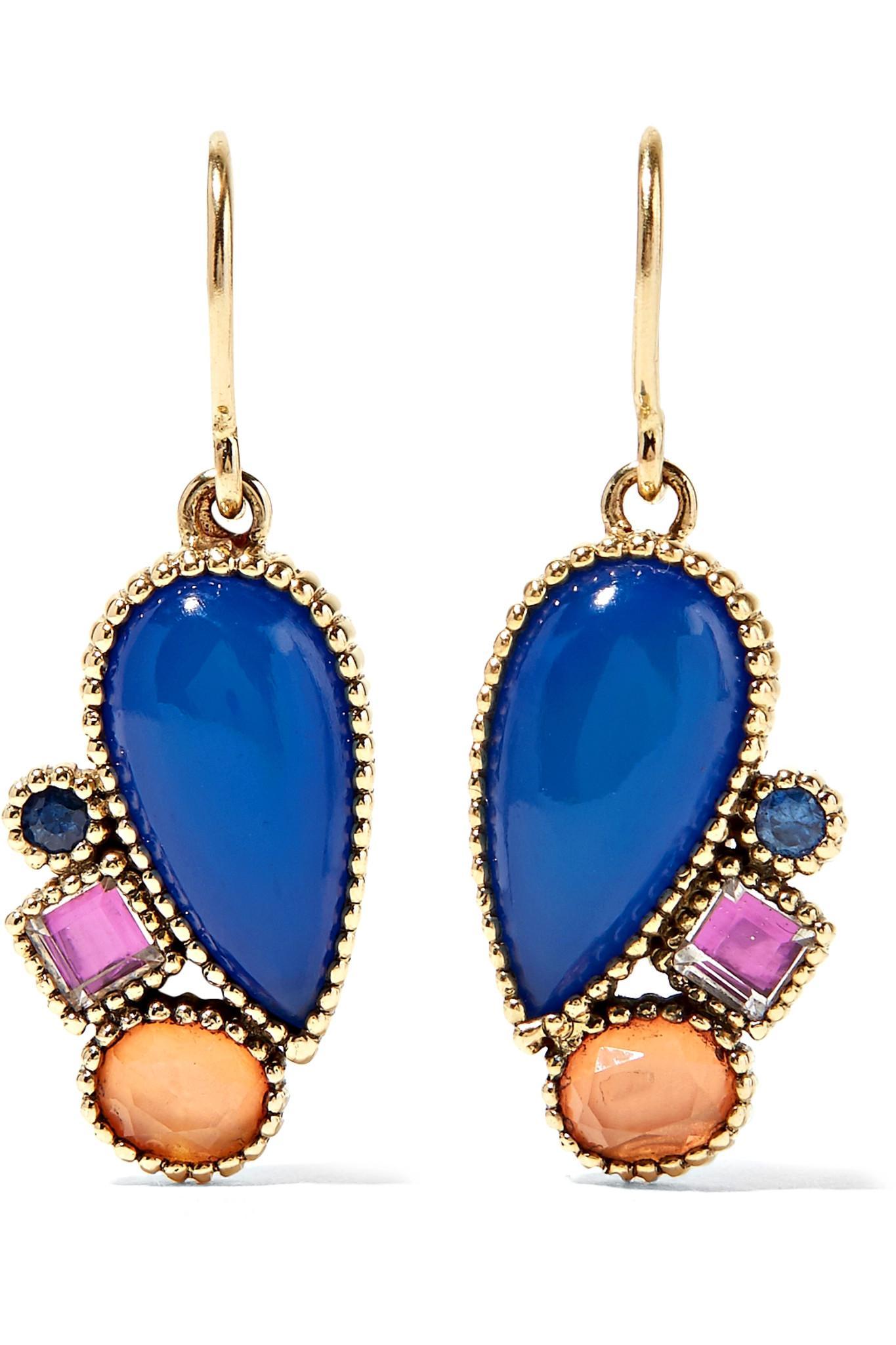 Larkspur & Hawk Cora Topsy-turvy 14-karat Gold Multi-stone Earrings KQTCIlmA02