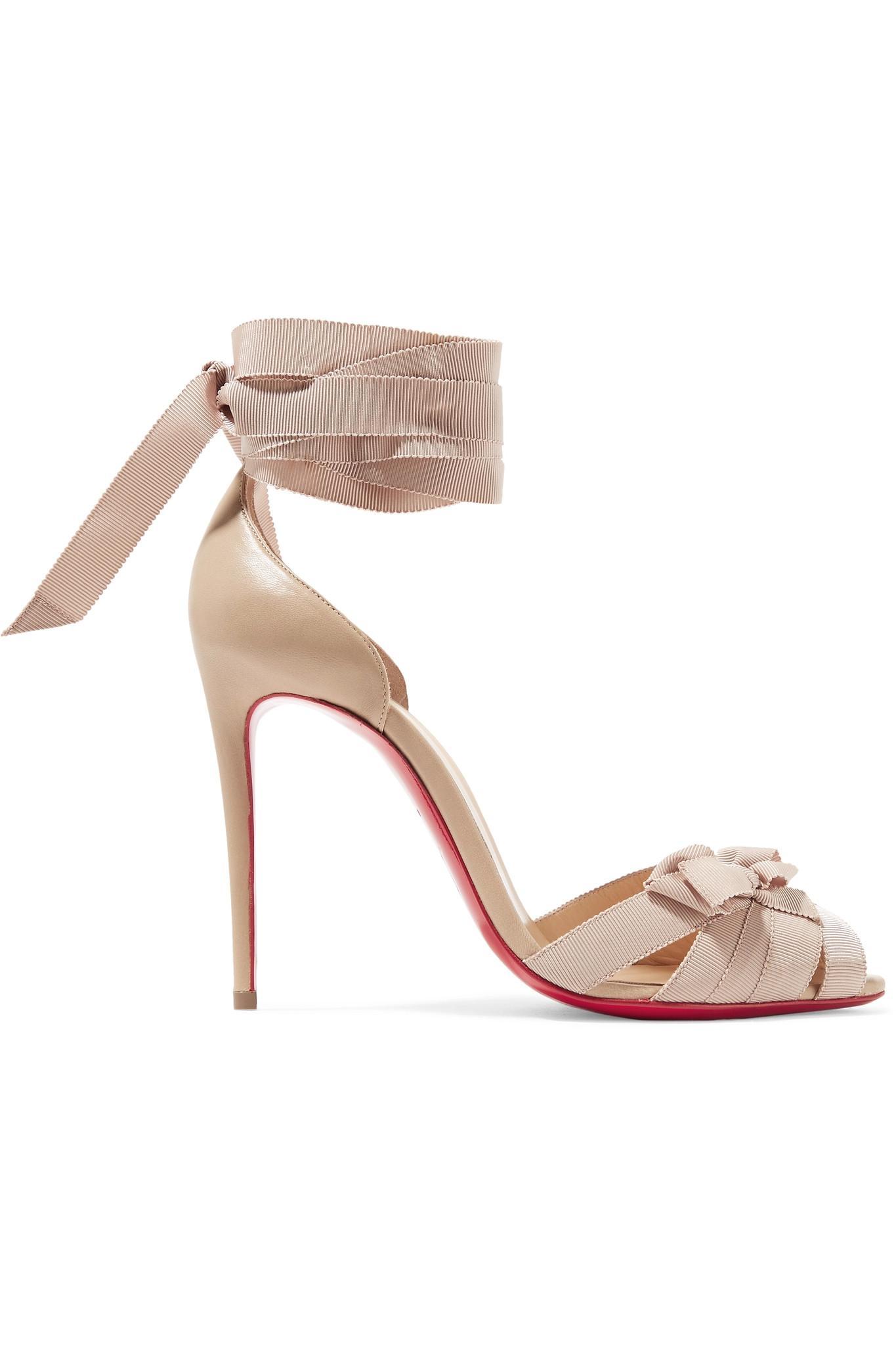 Christeriva 100 tan grosgrain sandal Christian Louboutin PzrdIDPEWi