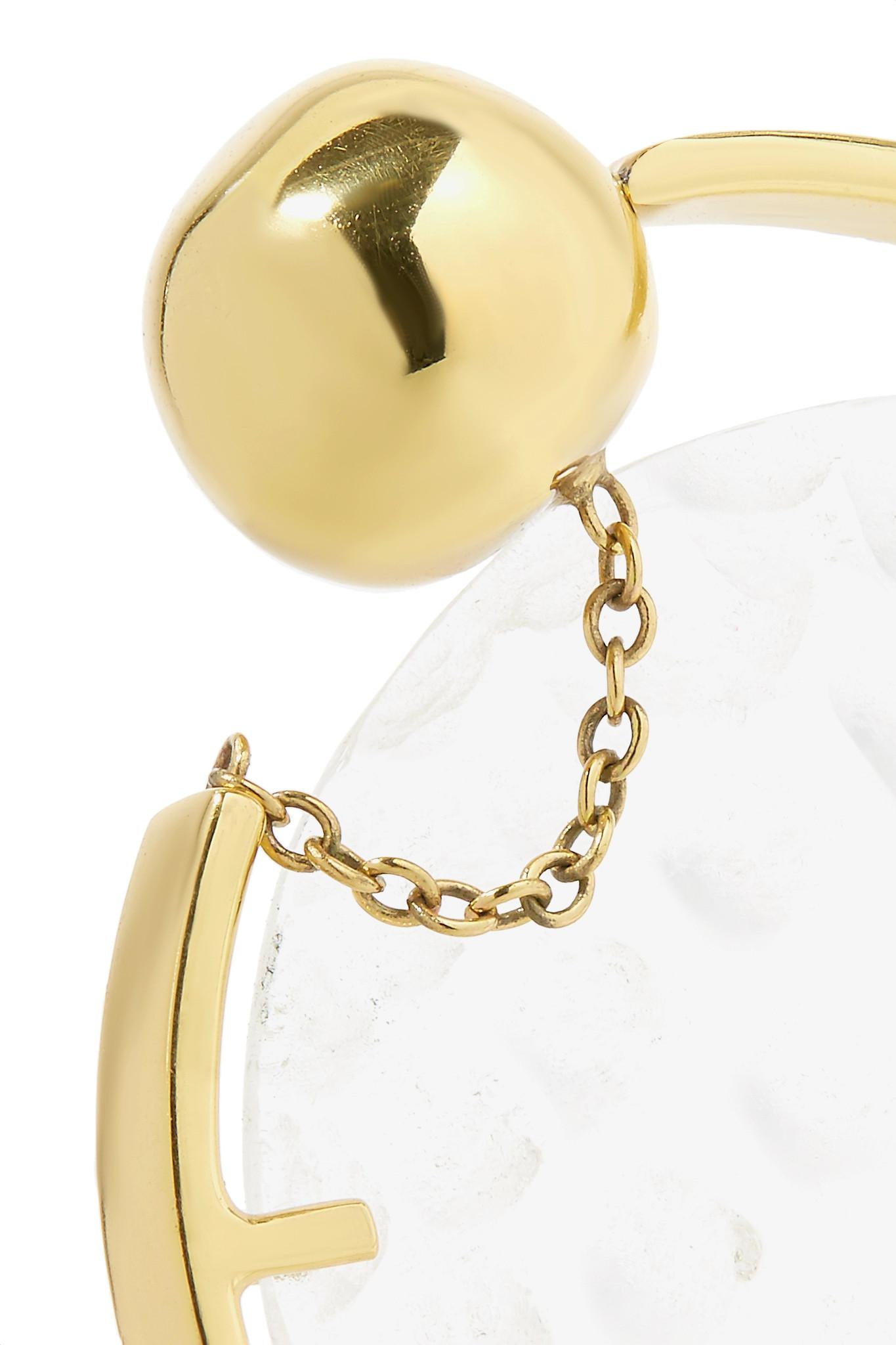 Ellery Low Art Revolving Gold-plated And Resin Hoop Earring NNGC10