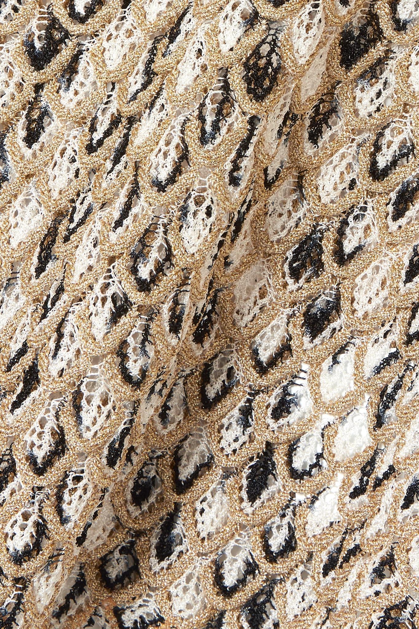 d4c11fcb34887a Missoni - Cropped Metallic Crochet-knit Top - Lyst. View fullscreen