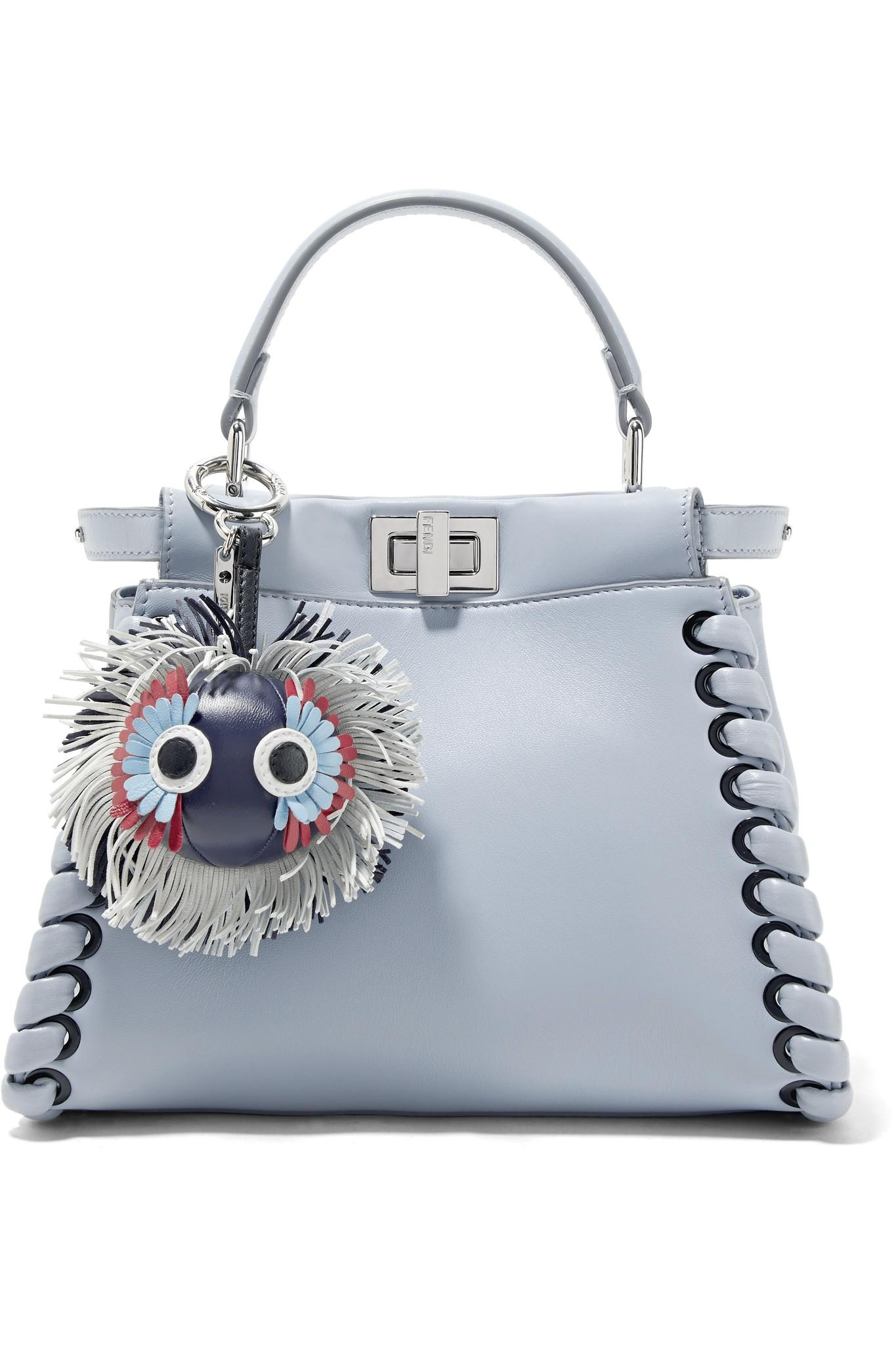 Fendi Leather Bag Charm - Storm blue ud2GJ0