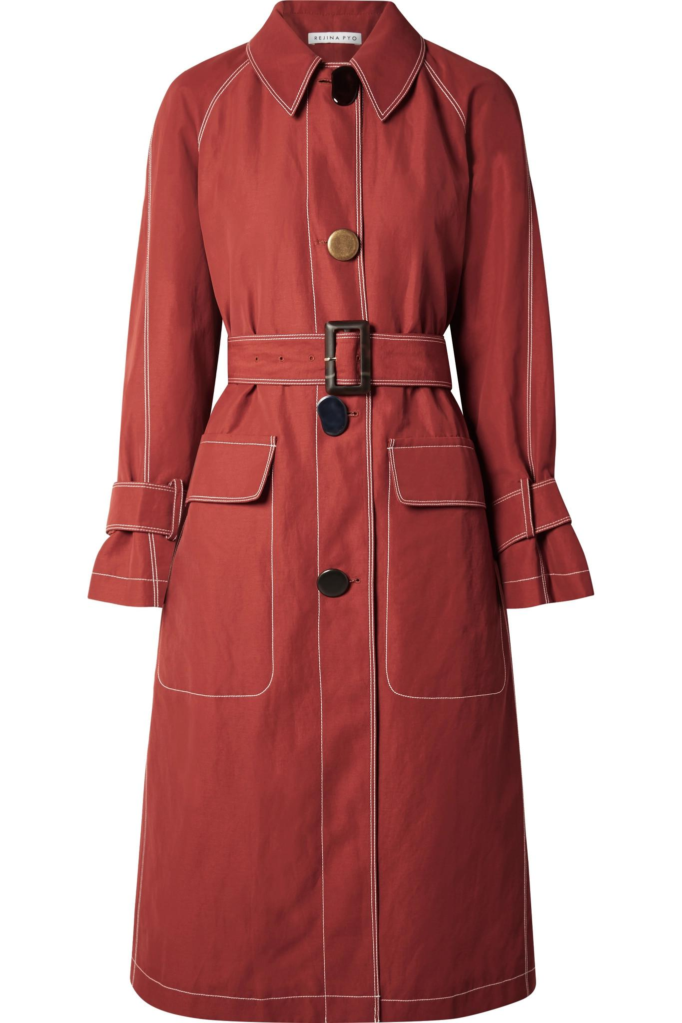 Pyo Coloris Lyst Coat En Toile Rouge Hazel Rejina Trench 6fyYb7vg