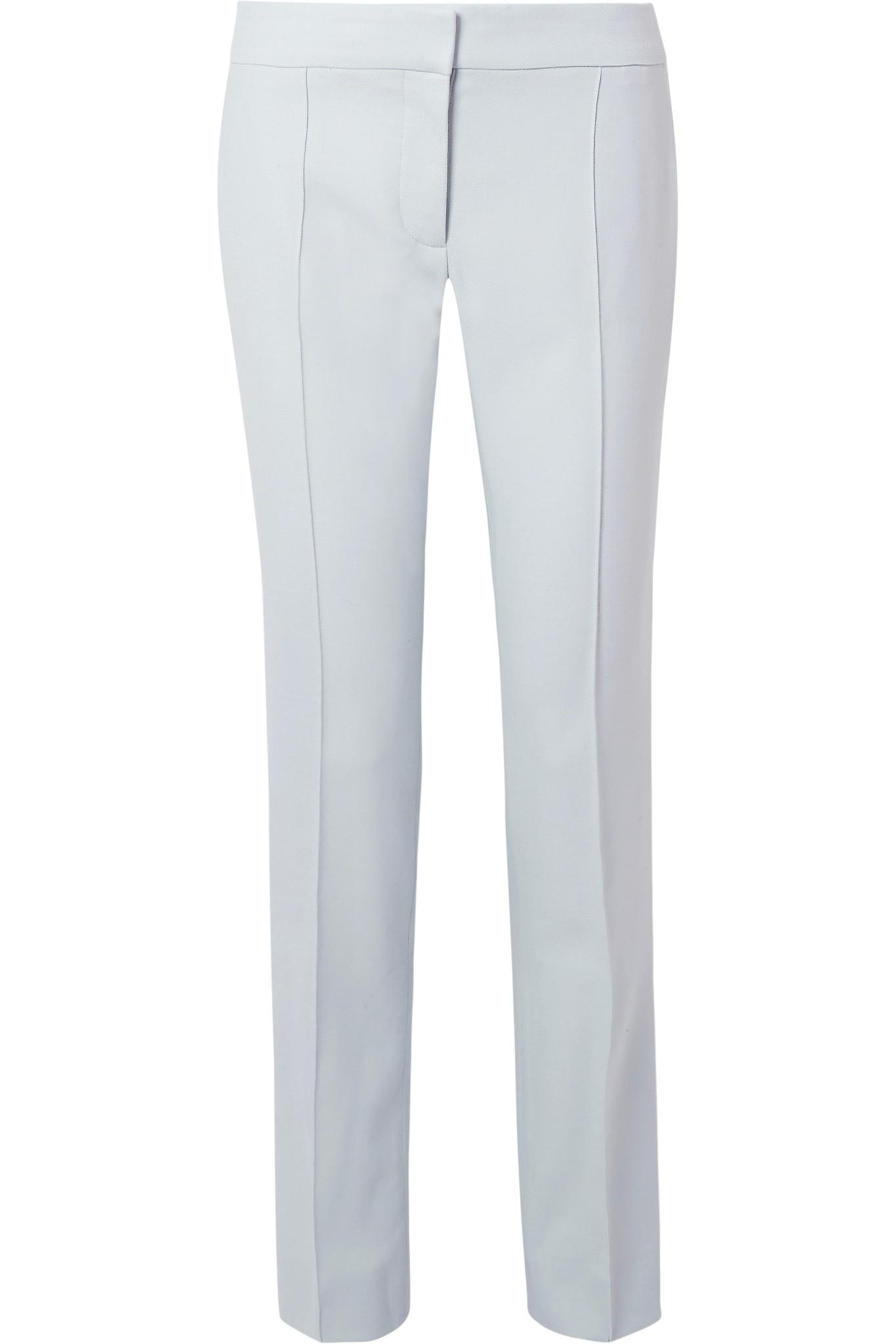 Clearance Newest Anna Pleated Wool-piqué Straight-leg Pants - Sky blue Stella McCartney Cheap Sale The Cheapest Discount Official Site Best Buy Buy Cheap For Nice h3yRy03kkN