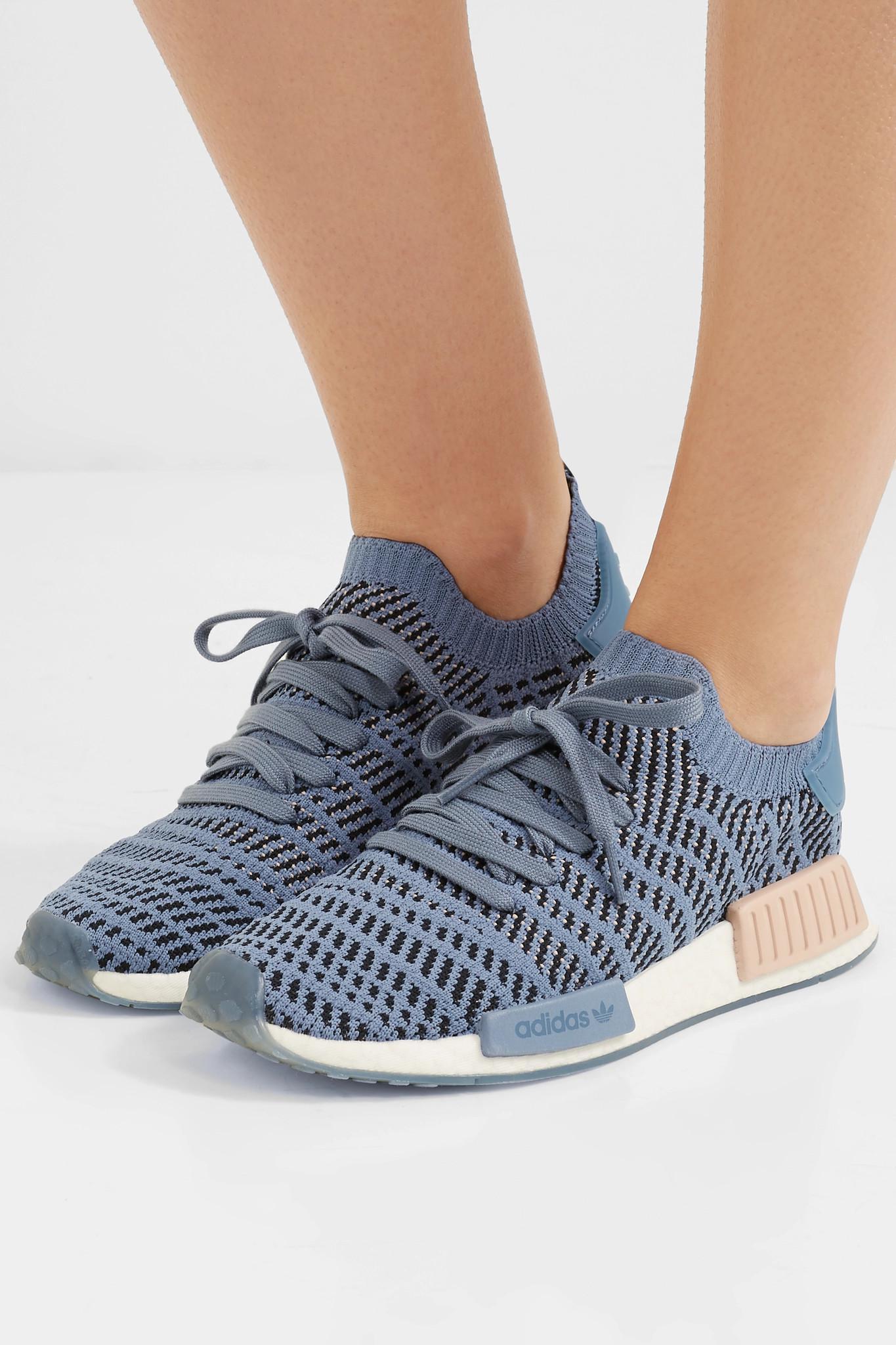 2fb8c8651a076 Adidas Originals - Blue Nmd r1 Rubber-trimmed Primeknit Sneakers - Lyst.  View fullscreen