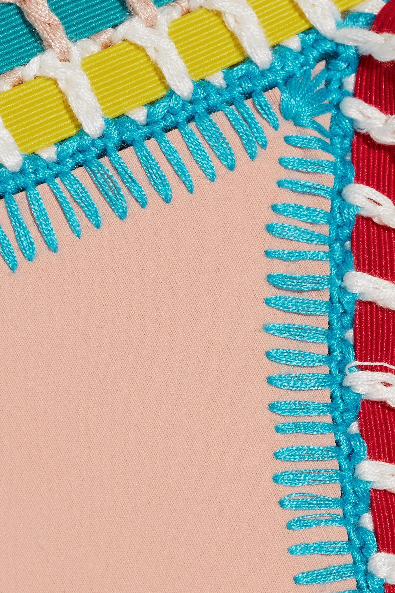 32ccf0e1f7f73 KIINI Luna Crochet-trimmed Bikini Briefs in White - Lyst