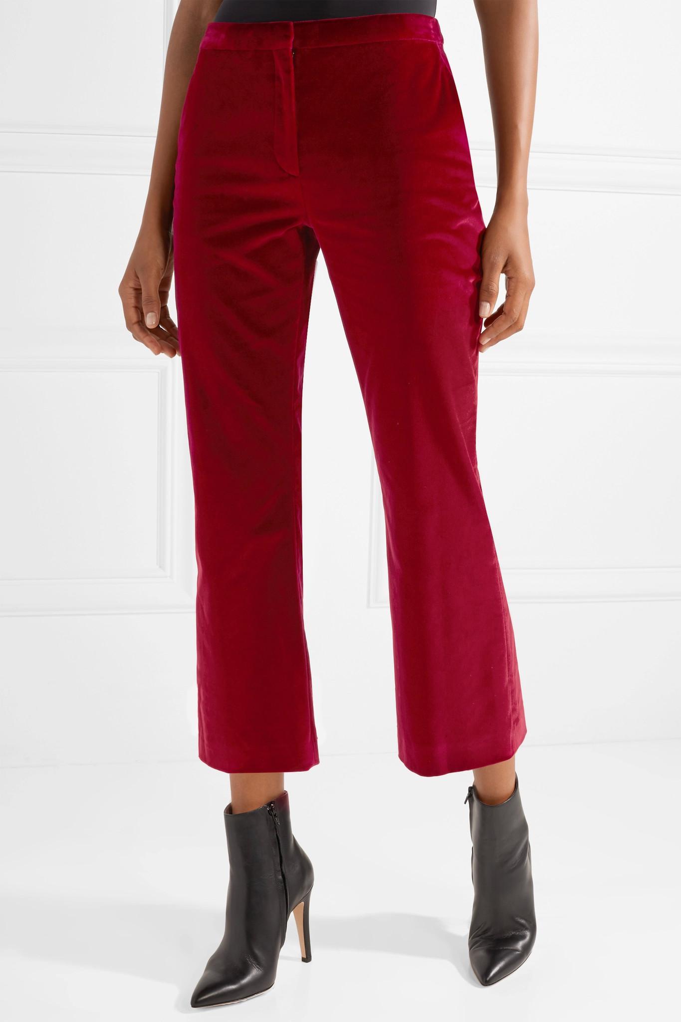 Supply Velvet trousers Altuzarra Visa Payment Cheap Price R8Phw4ZT5
