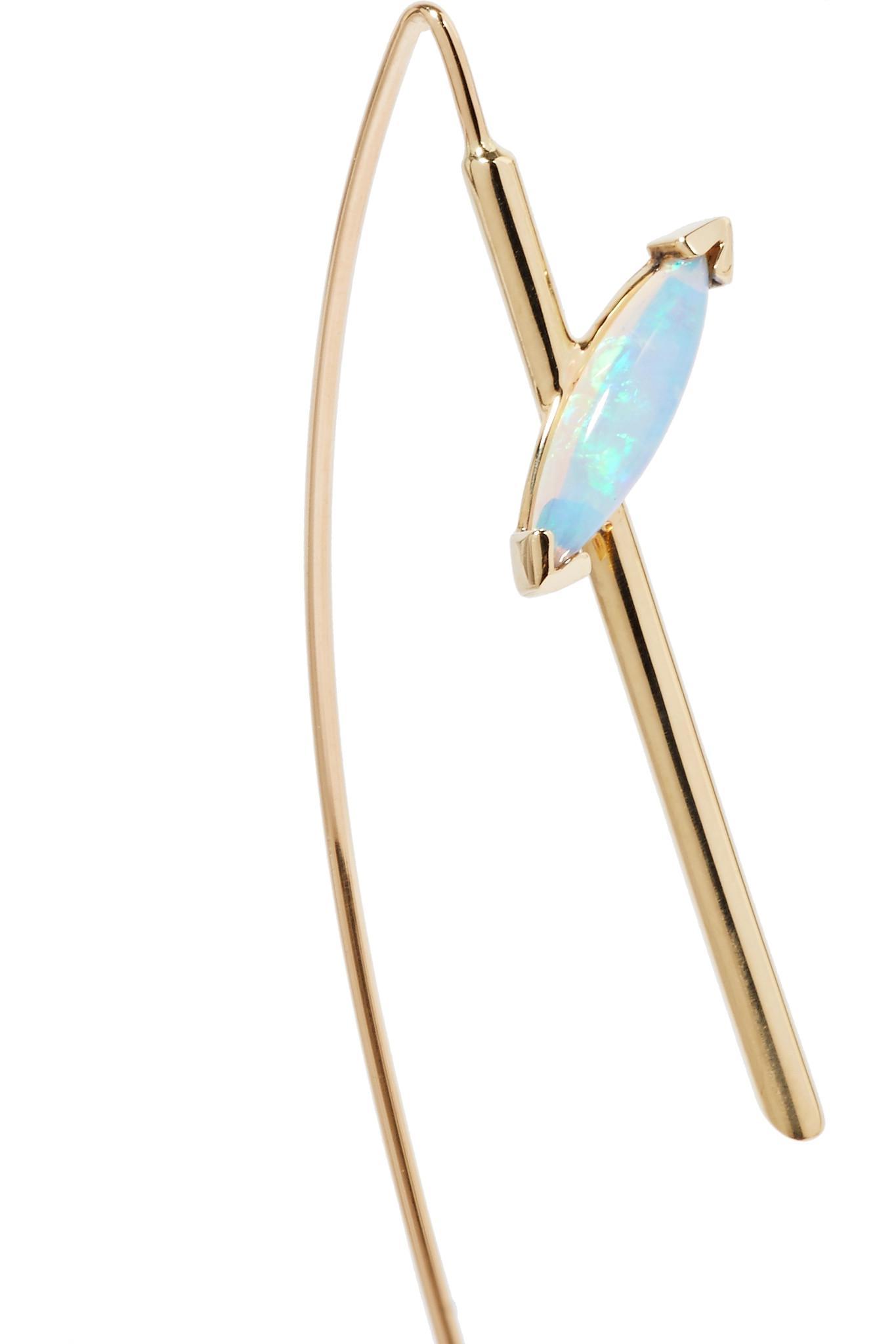 Wwake Sky 14-karat Gold Opal Earring - Blue Wu6TBpDDg