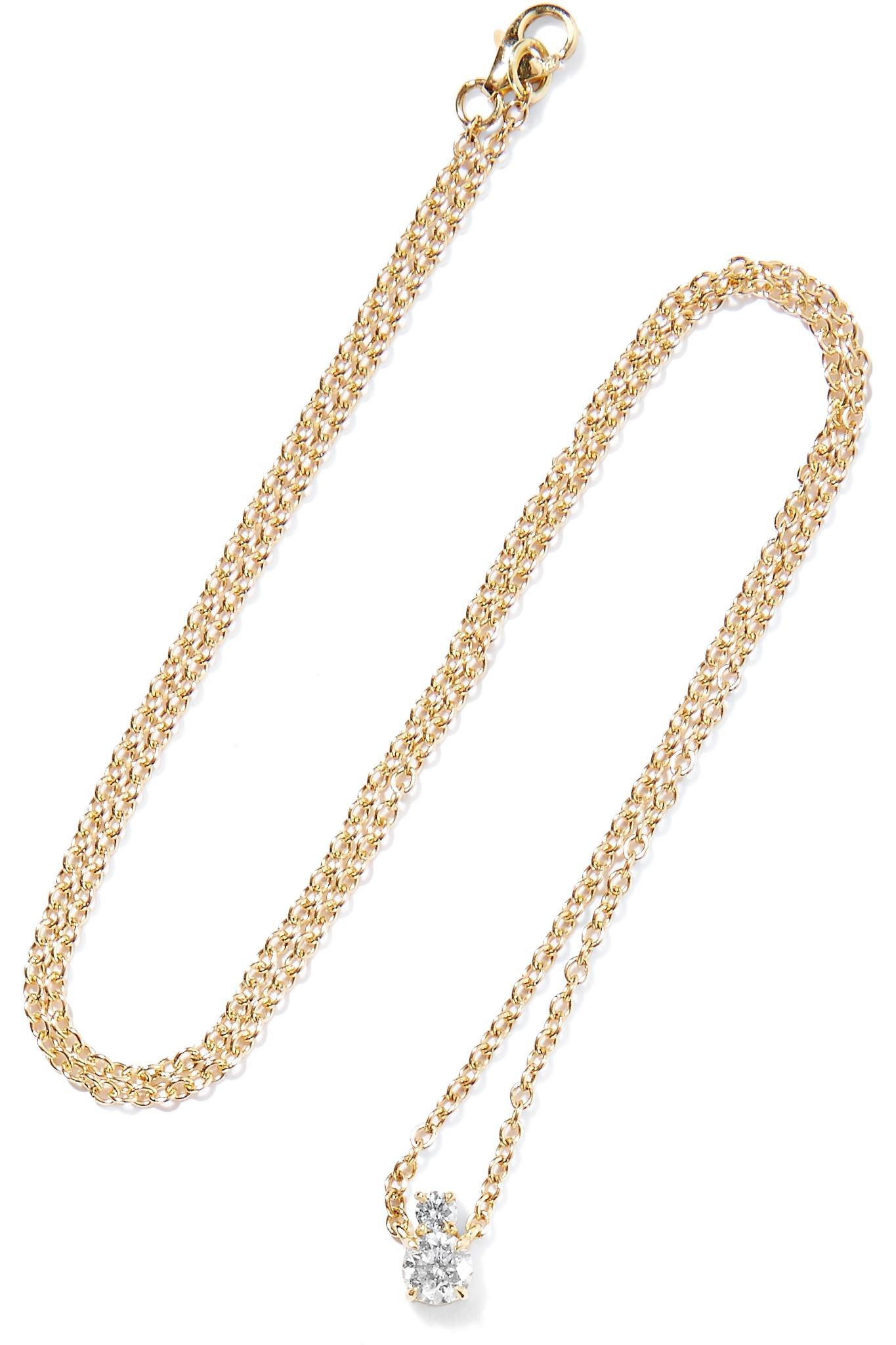 Jemma Wynne 18-karat Rose Gold Diamond Necklace P1MFxcP