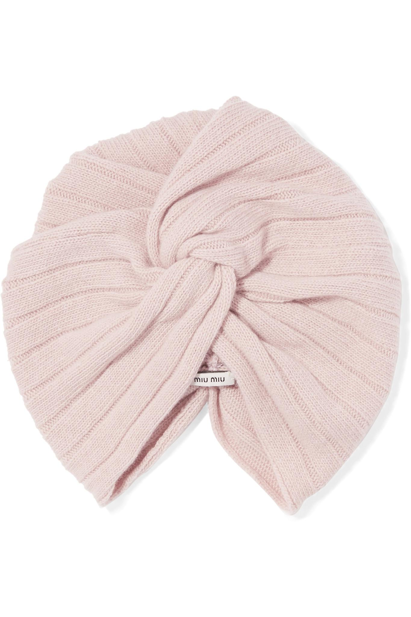 d360ebbff1f Lyst - Miu Miu Knotted Wool And Cashmere-blend Turban in Pink
