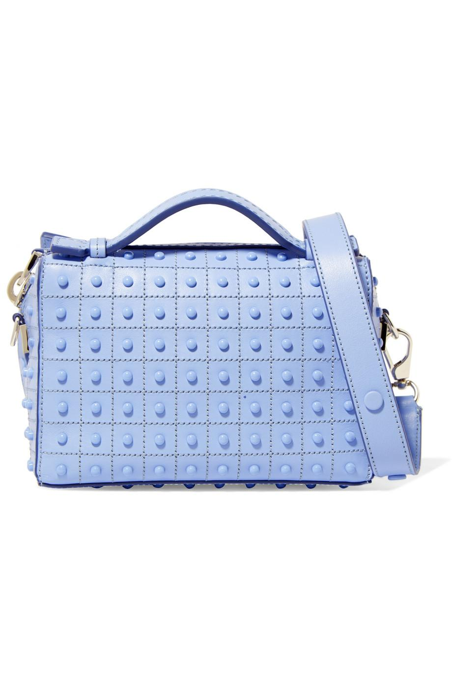d08e703c3f774 Tod's Bauletto Micro Studded Leather Shoulder Bag in Blue - Lyst