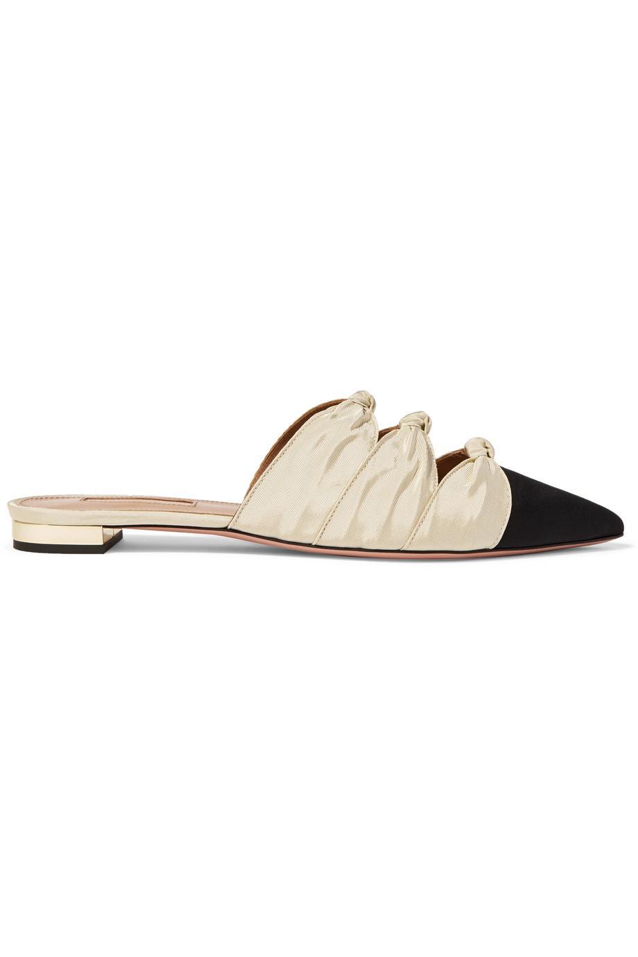 Aquazzura Mondaine grosgrain slippers QxF1s5o1