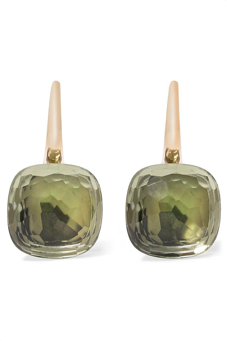 POMELLATO Nudo Classic 18-karat Rose Gold Prasiolite Earrings B7soCc