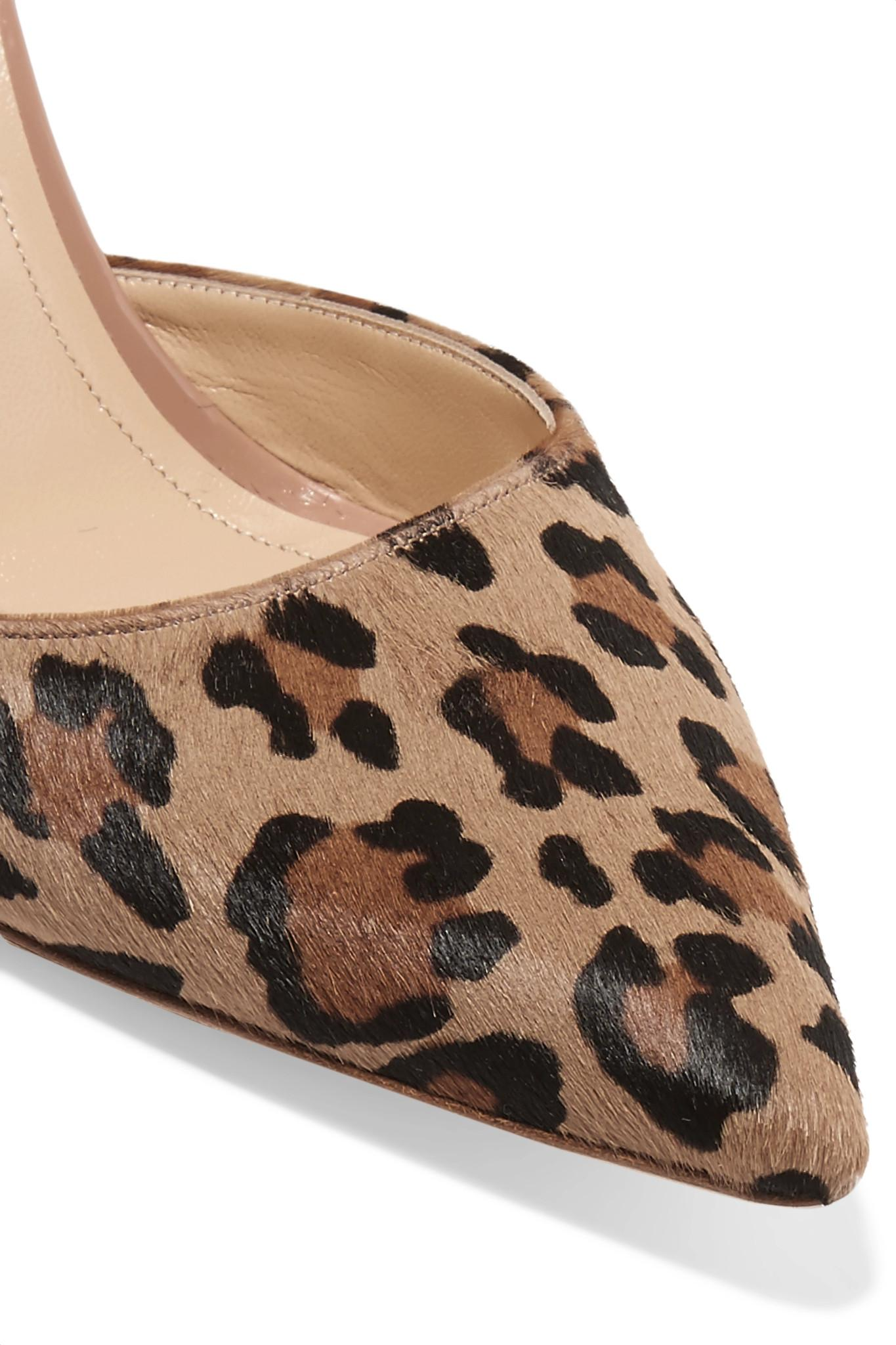 a8f414cdcaa JENNIFER CHAMANDI - Multicolor Vittorio 85 Leopard-print Calf Hair And  Patent-leather Slingback. View fullscreen