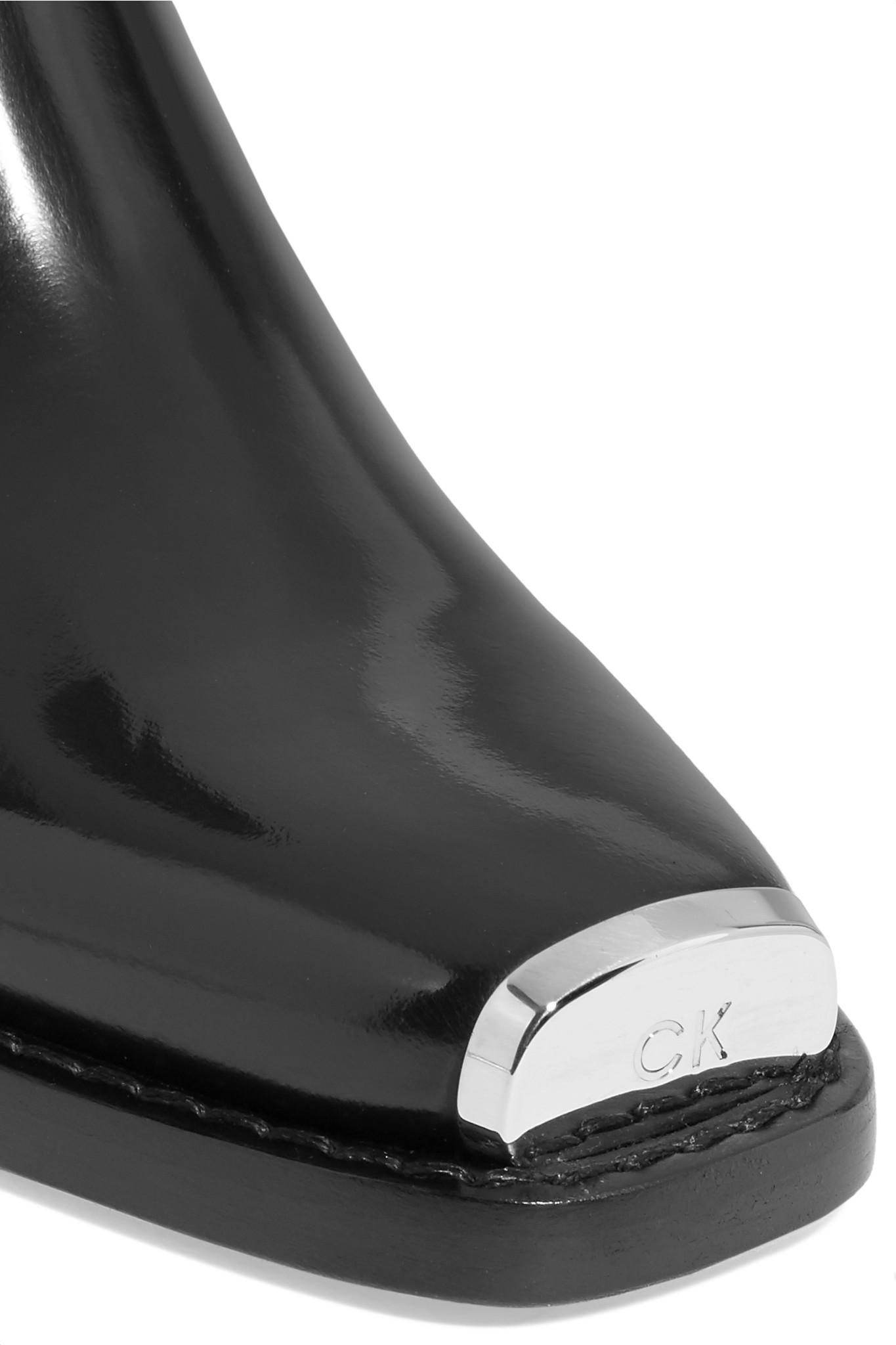 22b5b36d005 CALVIN KLEIN 205W39NYC - Black Claire 40 Western Ankle Boots - Lyst. View  fullscreen