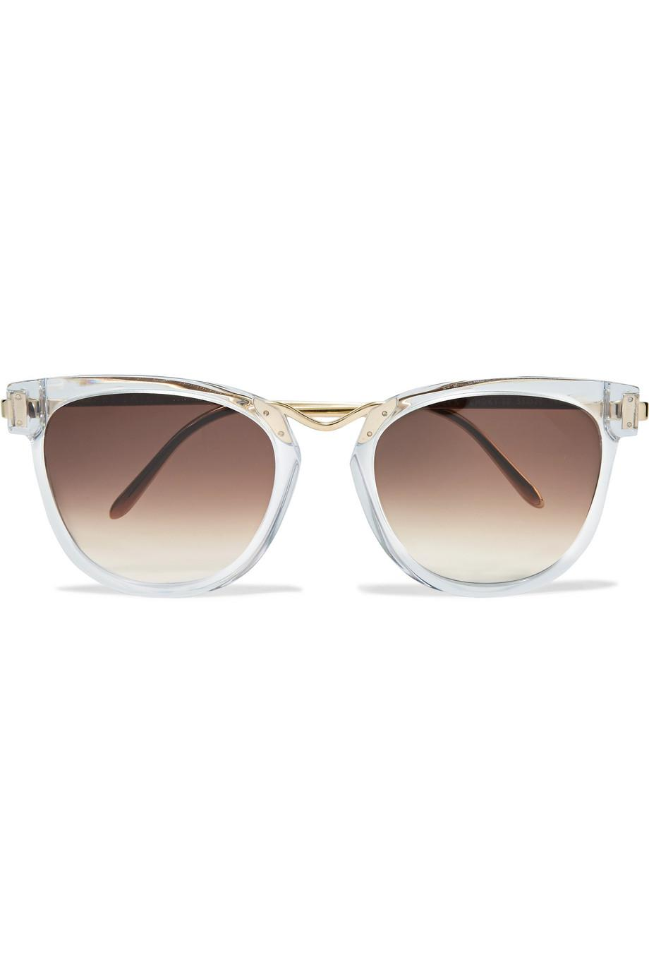 Cat-eye Two-tone Acetate And Gold-tone Sunglasses - Tortoiseshell Thierry Lasry Clearance Pick A Best Pictures Sale Online Buy Cheap Hot Sale Free Shipping Ebay vrhK3E