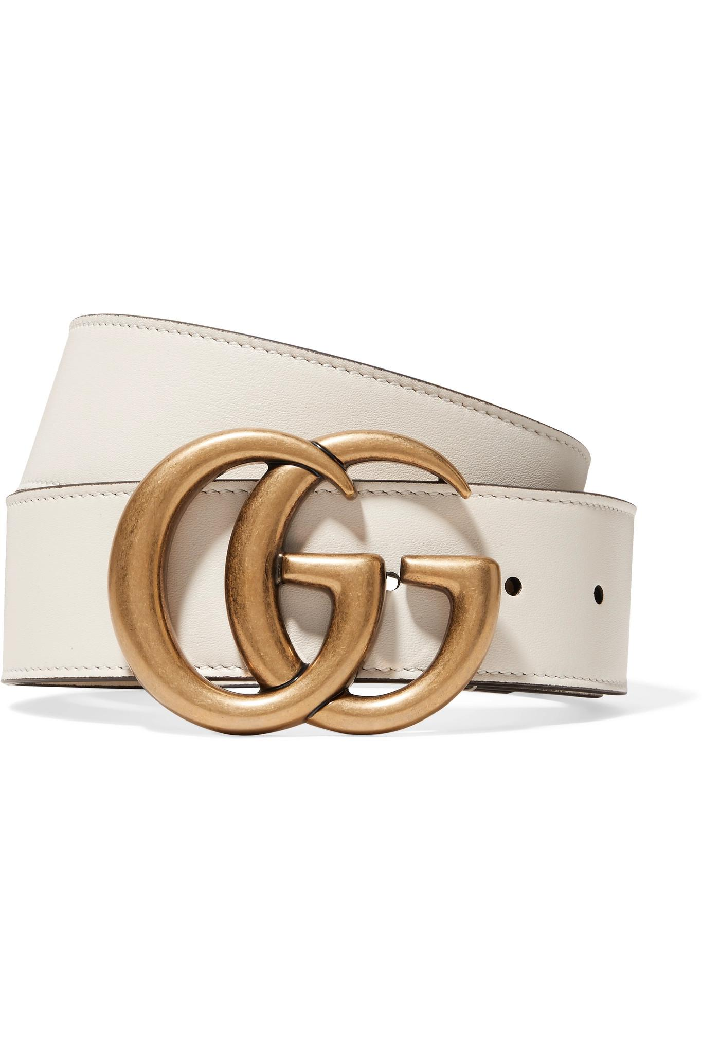 ce1337441f0 Gucci Leather Belt in White - Save 15% - Lyst