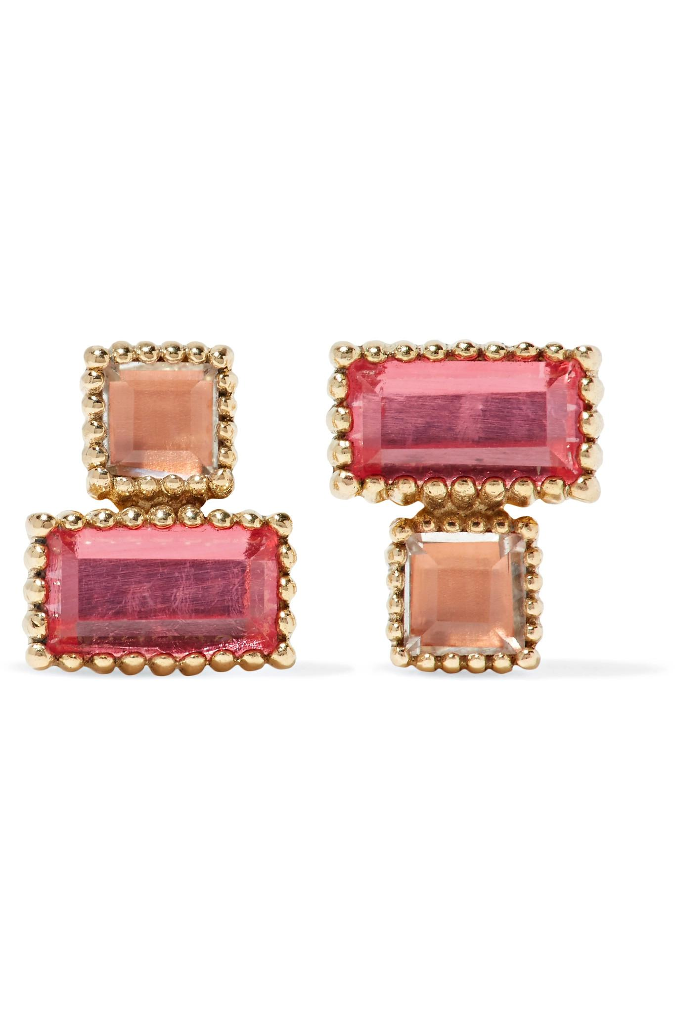 Larkspur & Hawk Cora 14-karat Gold Quartz Earrings ELGLrytE