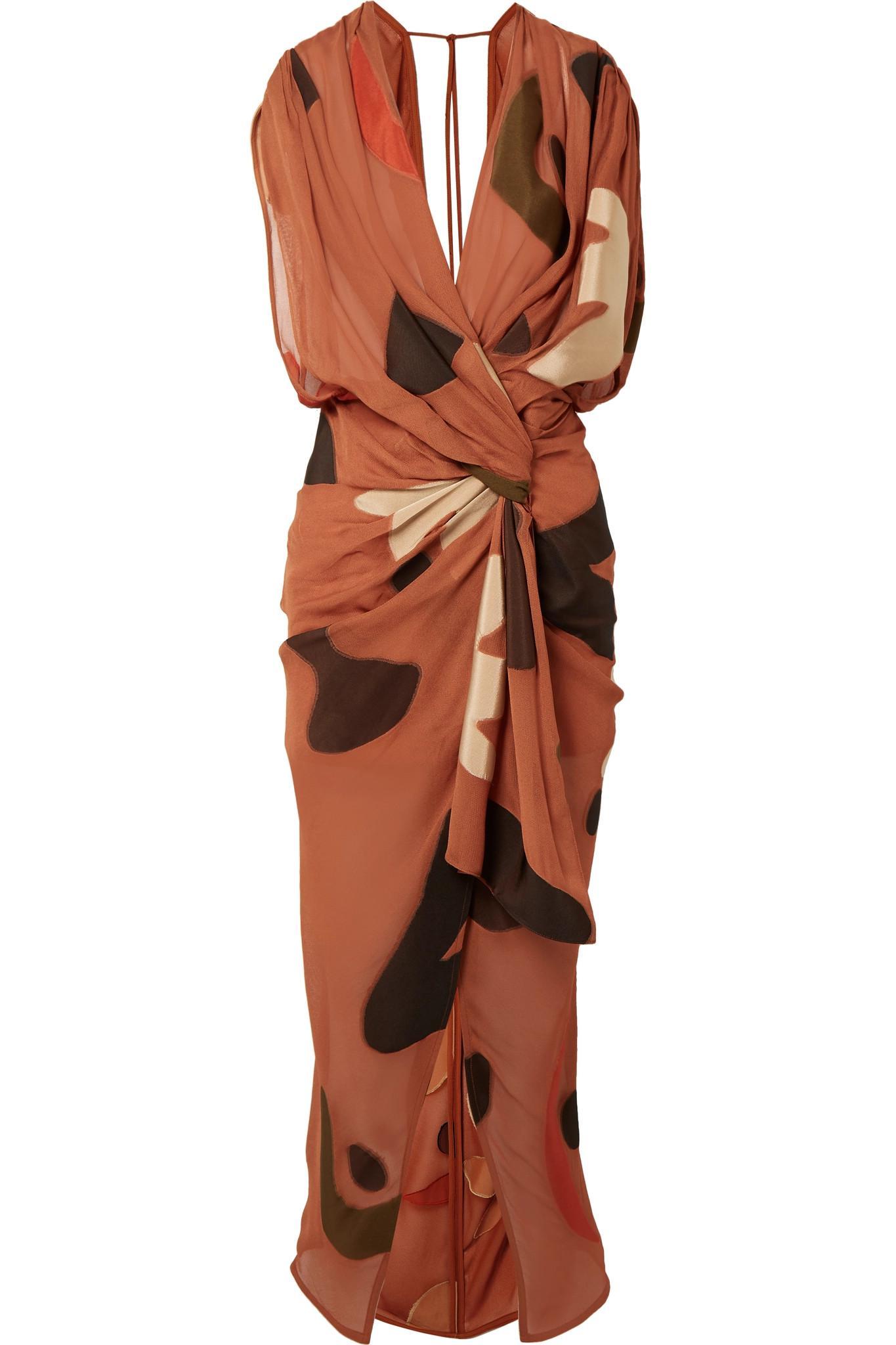 La Robe Henri Asymmetric Twisted Fil Coupé Dress - Brown Jacquemus gklLsBoHr