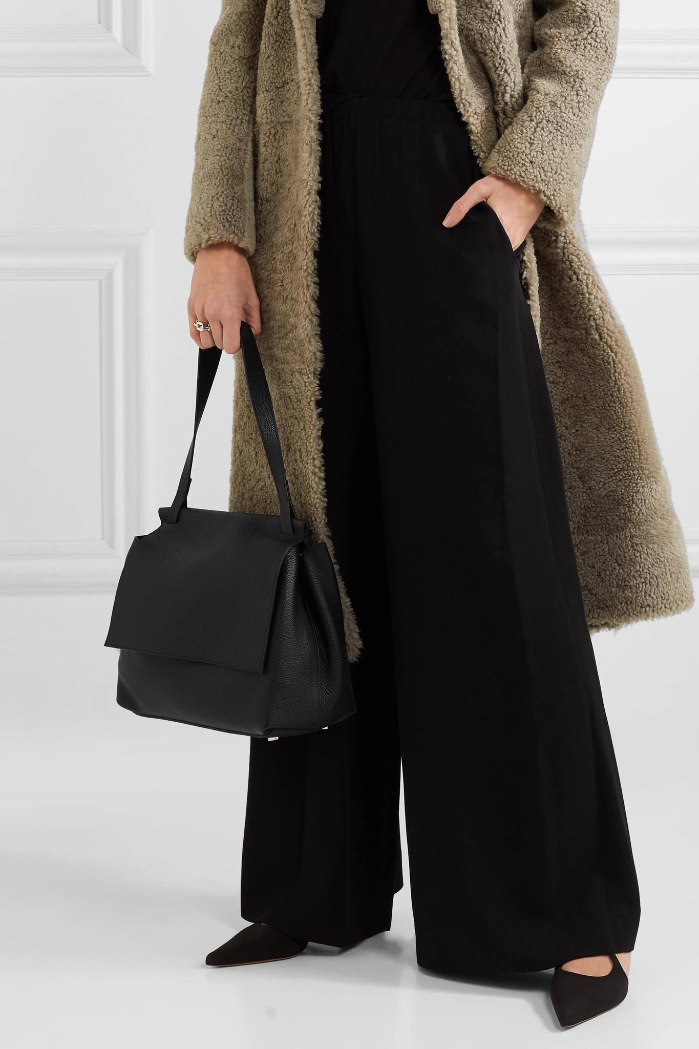 2277111110 The Row - Black Sidekick Two Textured-leather Shoulder Bag - Lyst. View  fullscreen