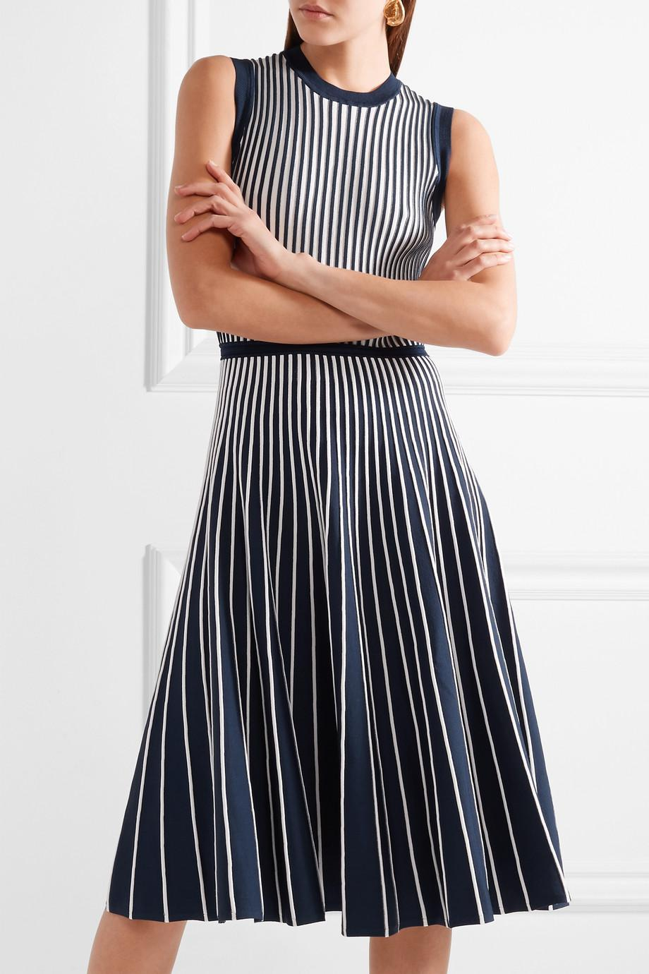 Two-tone Stretch-knit Dress - Navy Jason Wu Cheap Footlocker Sale Get Authentic Footlocker Pictures Cheap Price Buy Cheap Really Limited Edition Cheap Online wHbfRwKK61