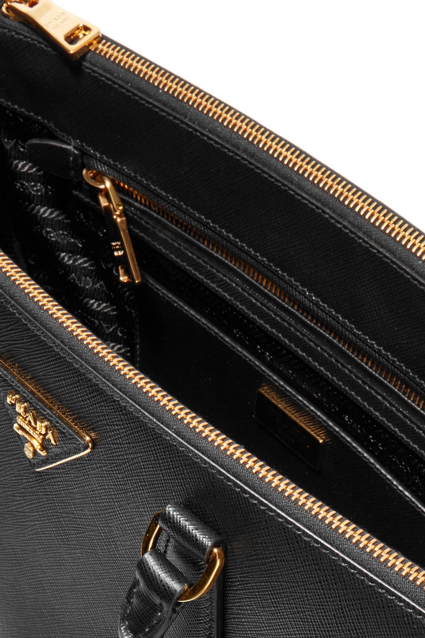 230f1ab85a Prada - Black Galleria Medium Textured-Leather Tote - Lyst. View fullscreen