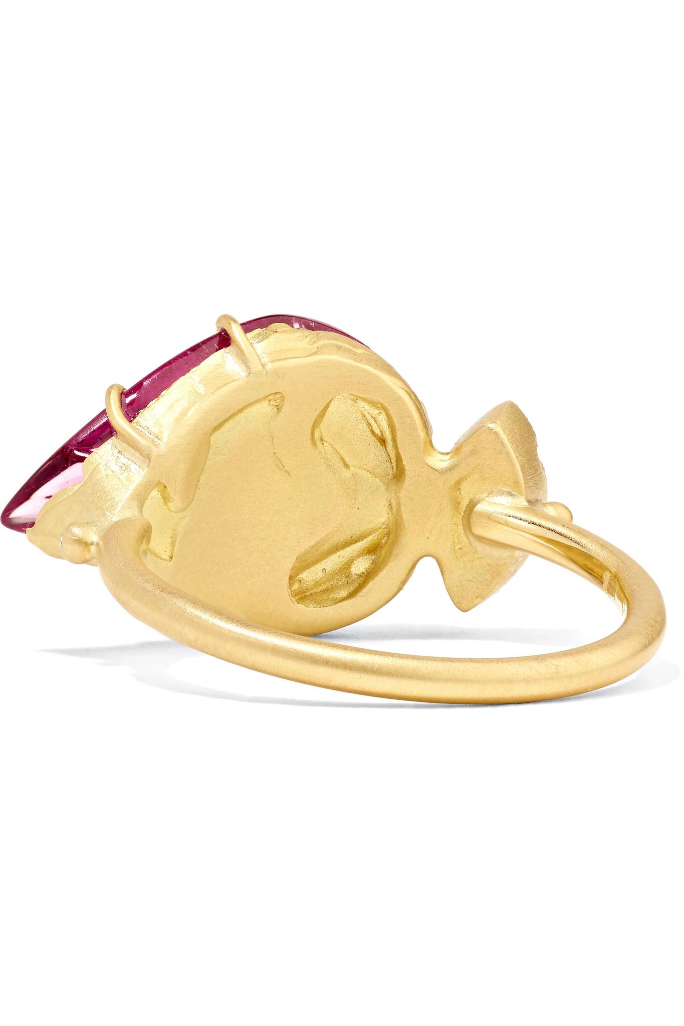 Brooke Gregson Maya 18-karat Gold, Tourmaline And Diamond Ring