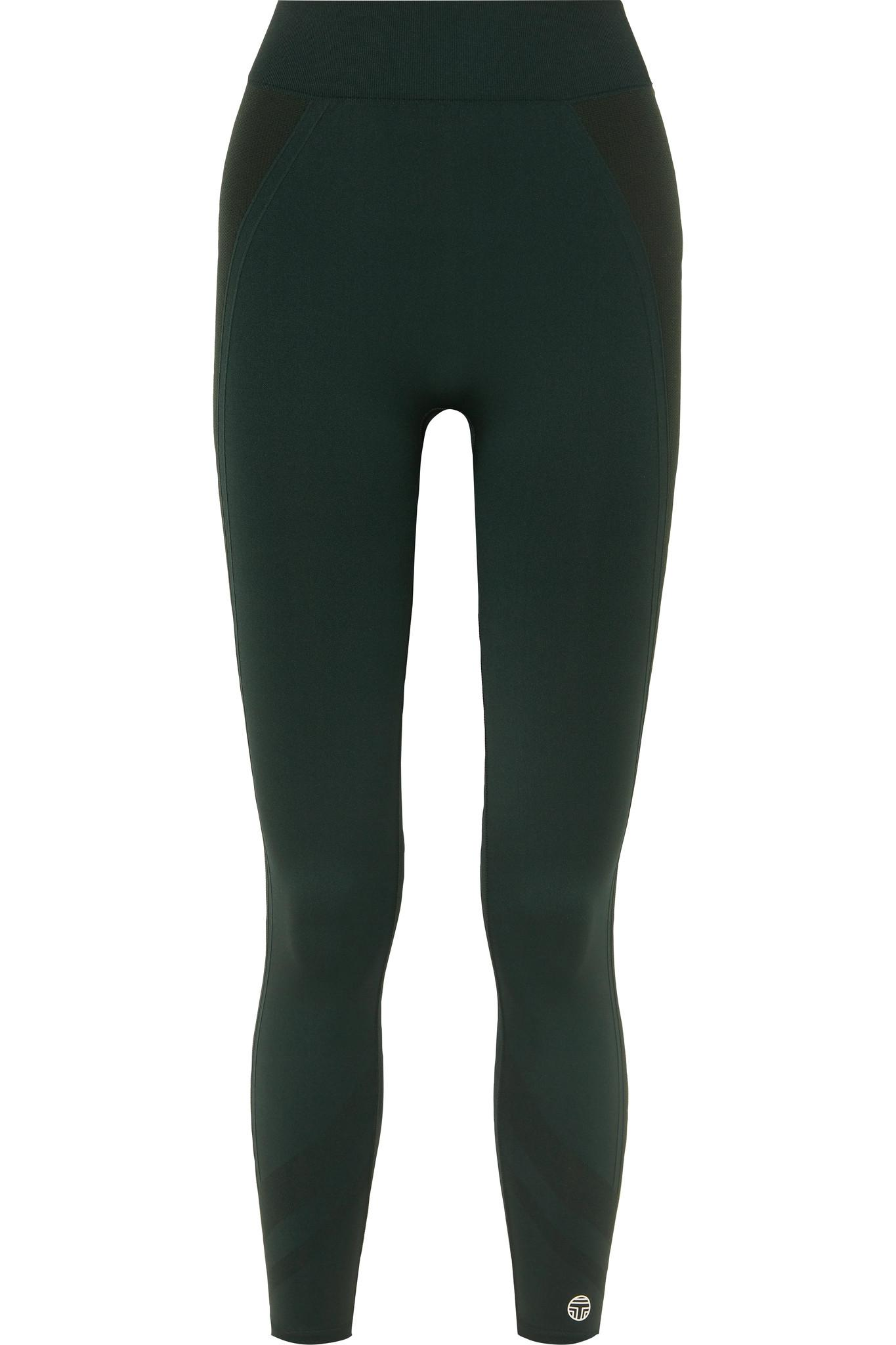 ed1b9d71f4c866 Lyst - Tory Sport Cropped Stretch-jersey Leggings in Green