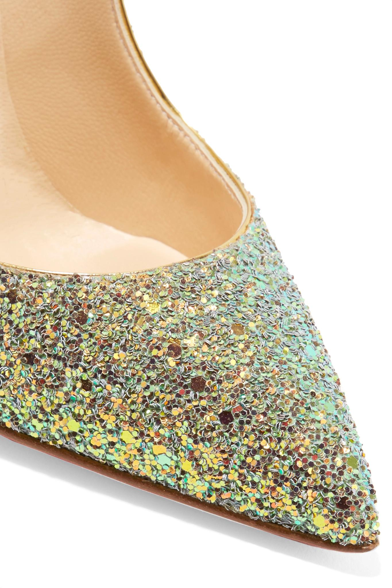 99d8d225c60 Lyst - Christian Louboutin Pigalle Follies Dragonfly 100 Glittered ...