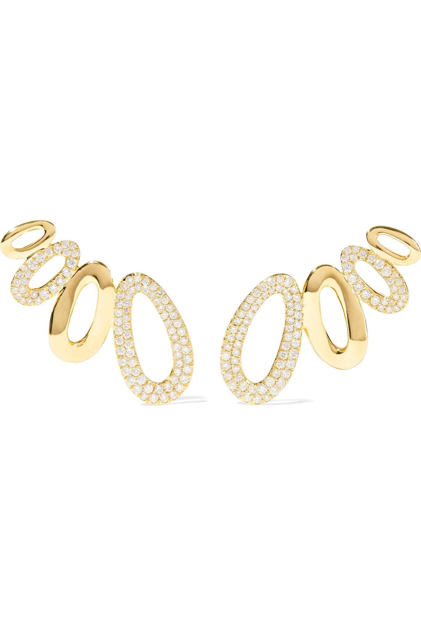 Ippolita Cherish 18-karat Gold Diamond Earrings q2jQXl