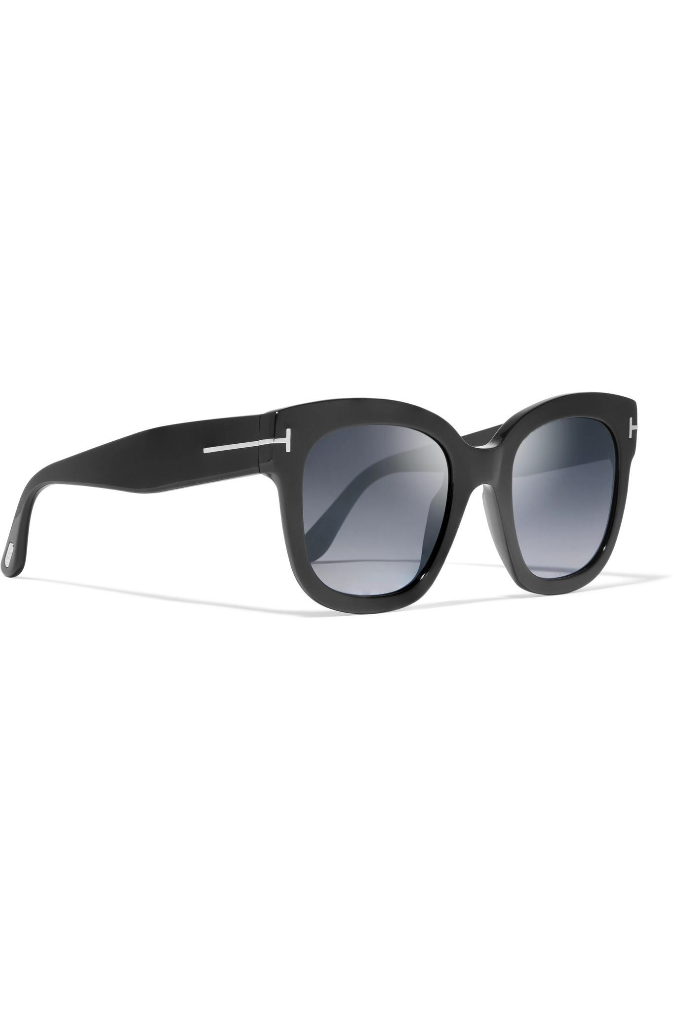 305832464f6c2 Tom Ford - Black Cat-eye Acetate Sunglasses - Lyst. View fullscreen