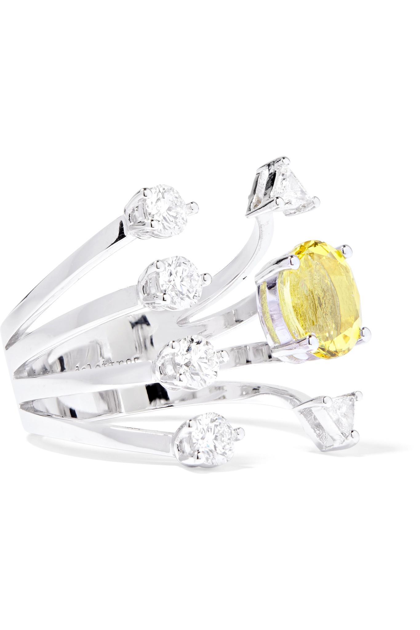 Delfina Delettrez 18-karat White Gold Diamond Ring Nz6skSytxw