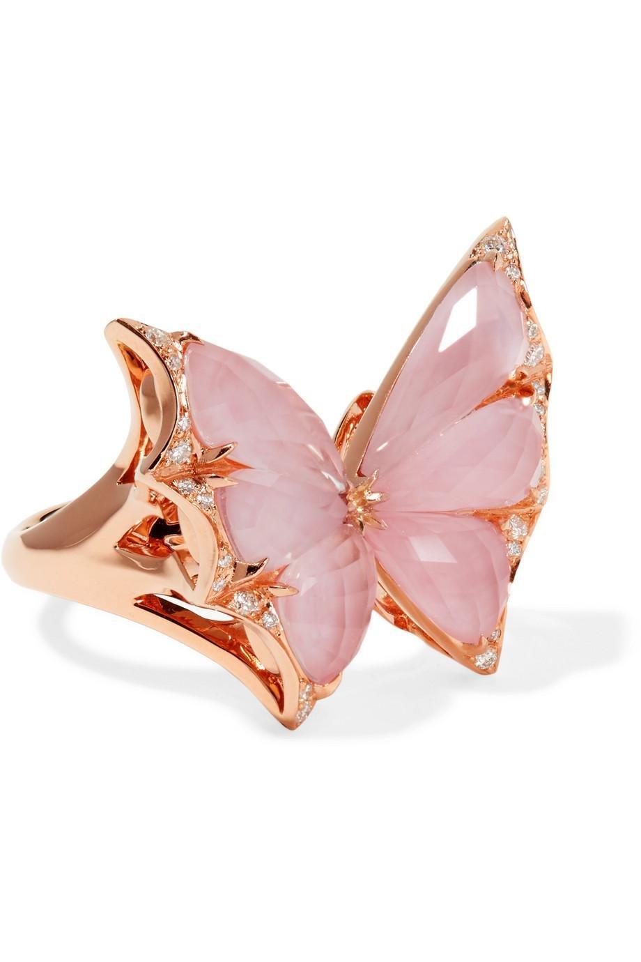 Stephen Webster Fly By Night 18-karat Rose Gold Multi-stone Ring STp7p