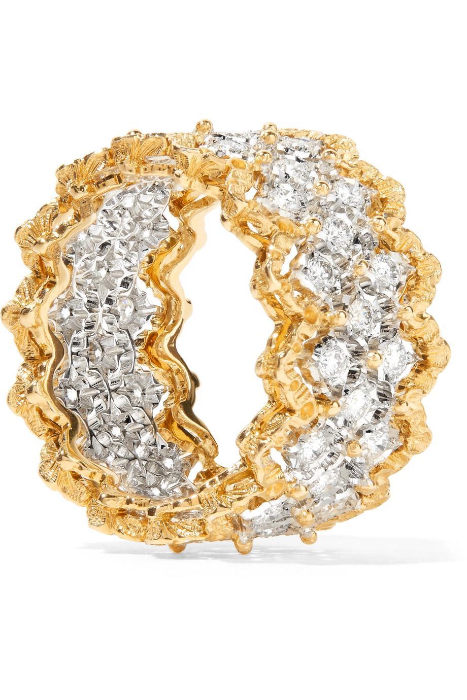 Buccellati Rombi 18-karat Yellow And White Gold Diamond Ring CBXL0