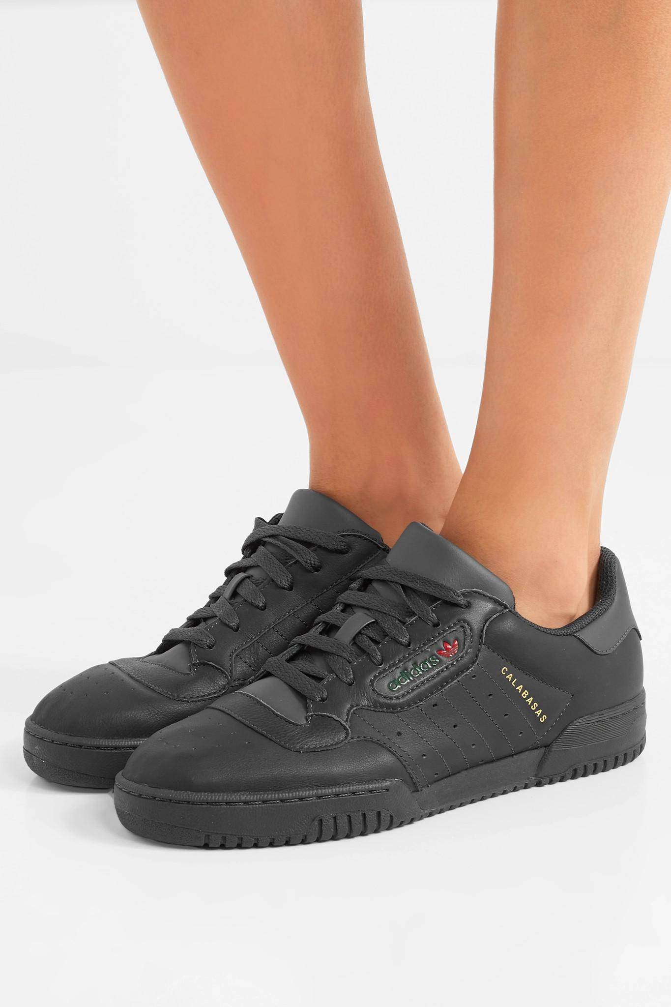 Calabasas Originals Adidas Powerphase Yeezy Sneakers In Leather tBFPBx