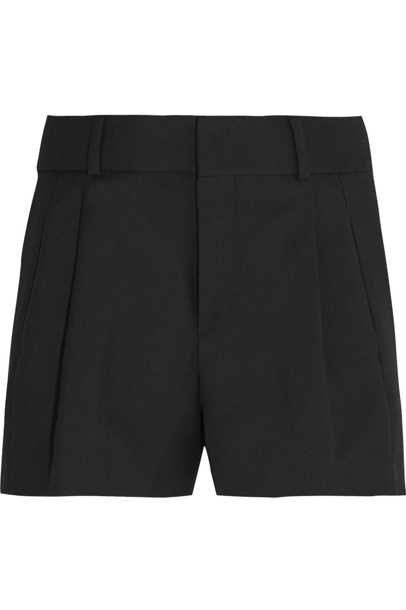 Discount Best Sale Wool-gabardine Shorts - Black Saint Laurent Eastbay Sale Online Big Discount Cheap Price Big Sale For Sale 9exR9YVj