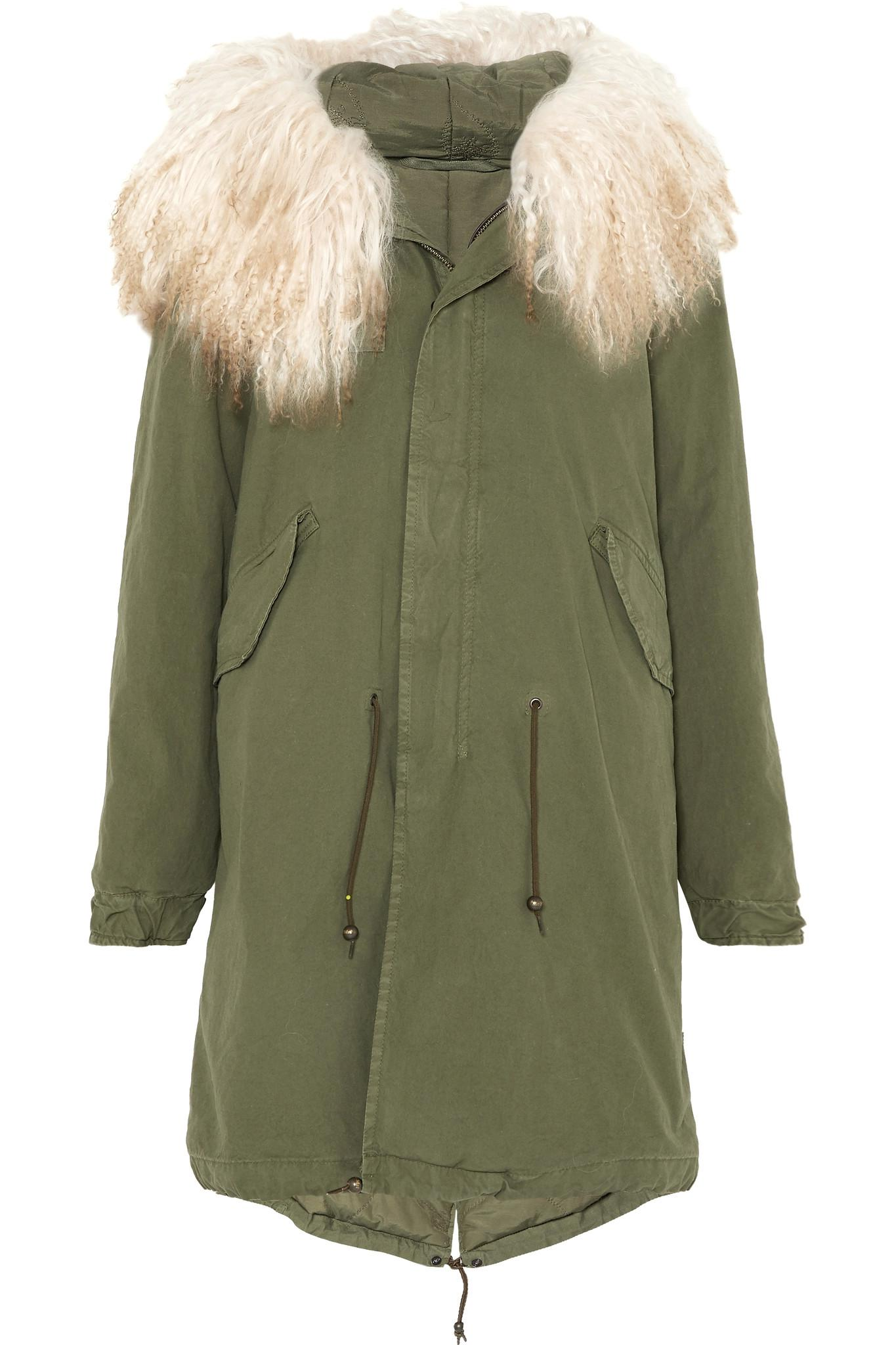 Wiki Online Hooded Shearling-trimmed Cotton-canvas Parka - Green Mr & Mrs Italy Best Prices Sale Online FXsaRg