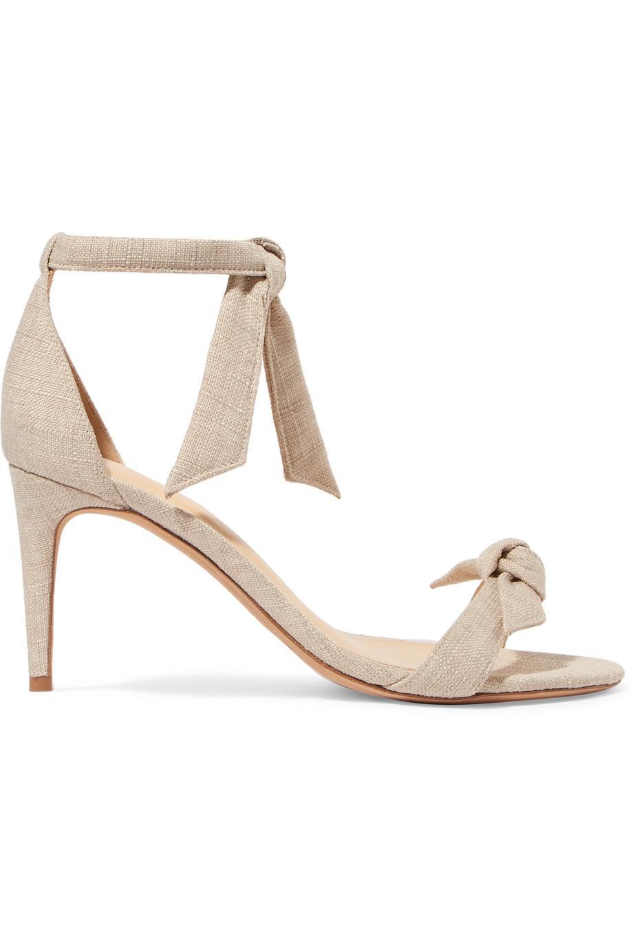 Clarita Bow-embellished Linen Sandals - Ecru Alexandre Birman X6uXAD