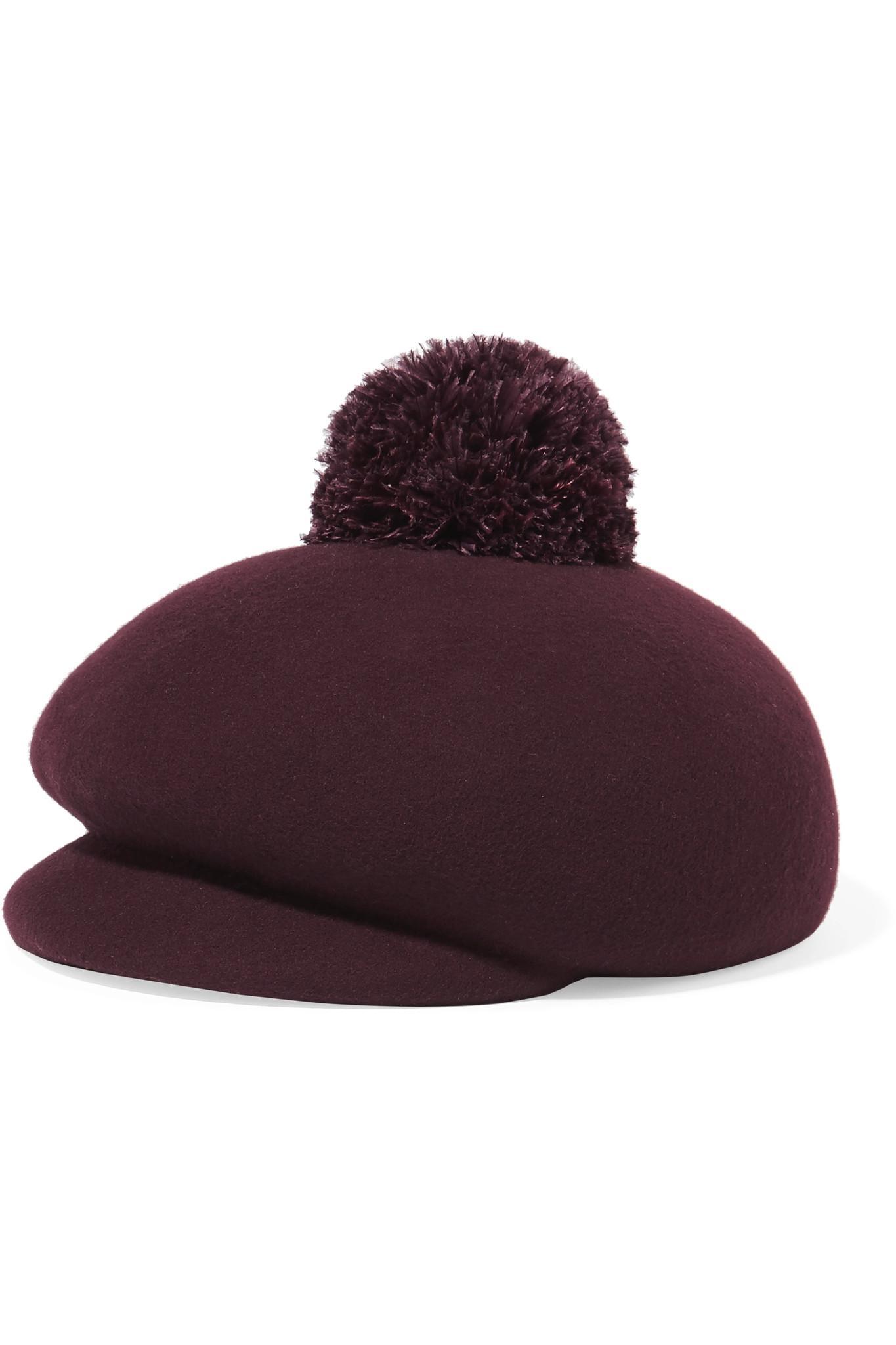 94e2880eefb Eugenia Kim Ogden Feather-embellished Wool-felt Cap - Lyst