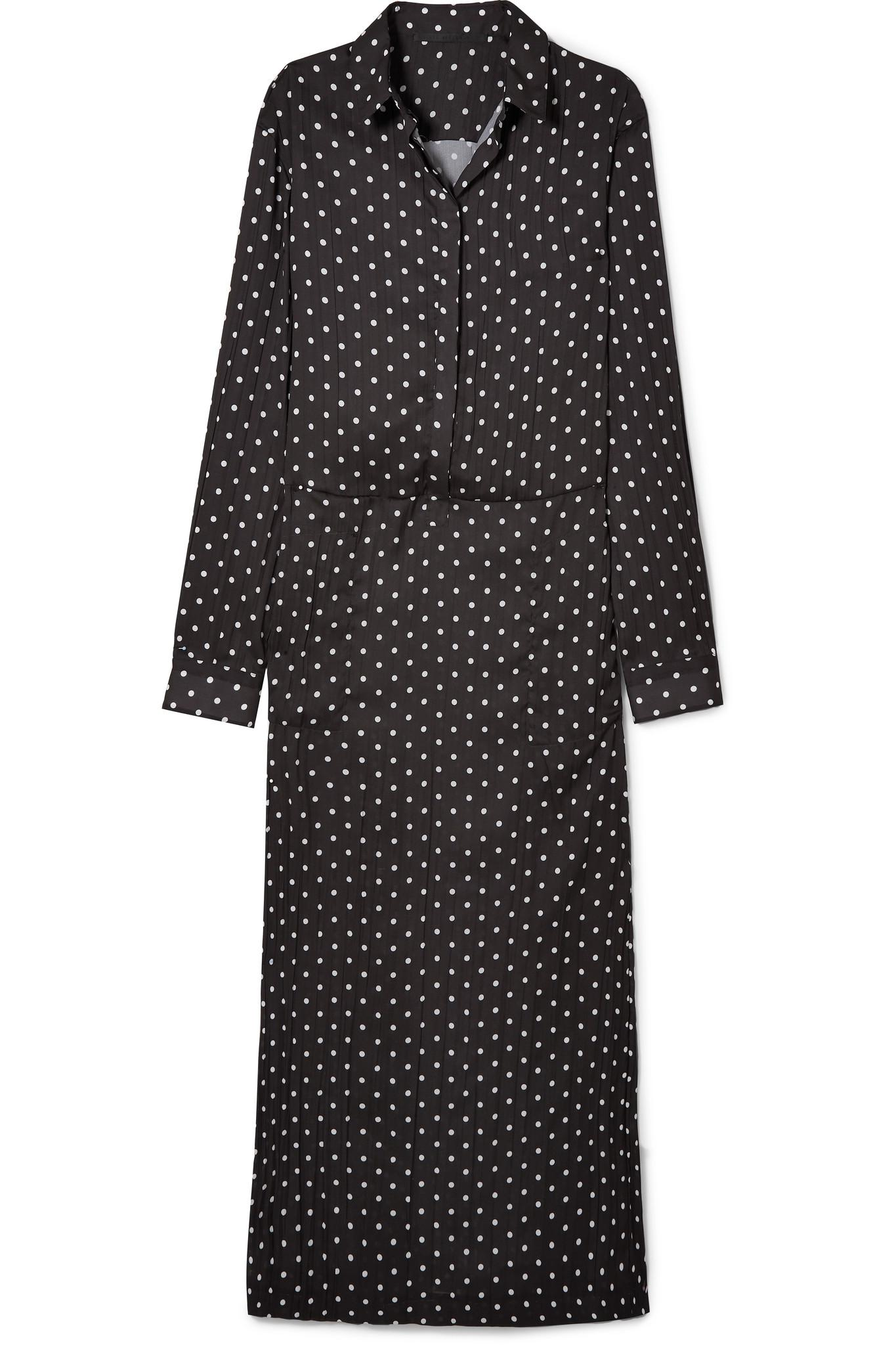 Polka-dot Crepe Dress - Black Haider Ackermann 100% Guaranteed Cheap Online Wholesale Price Online Cheap Sale Sale With Mastercard Sale Online Original Cheap Online jLRWT