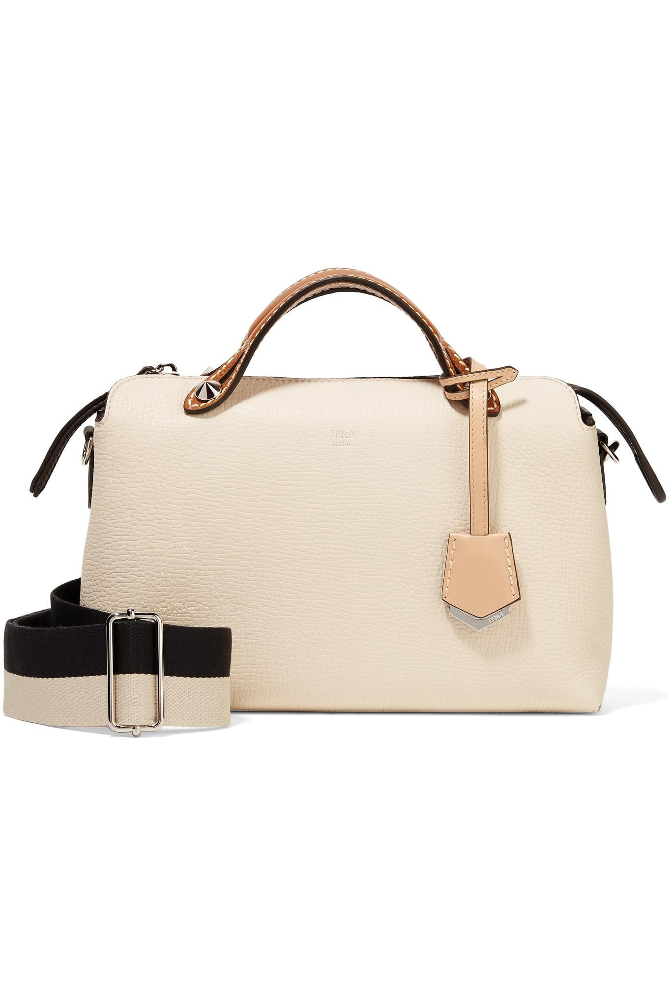 a4d85acaba4d Fendi. Women s White By The Way Small Color-block Textured-leather Shoulder  Bag